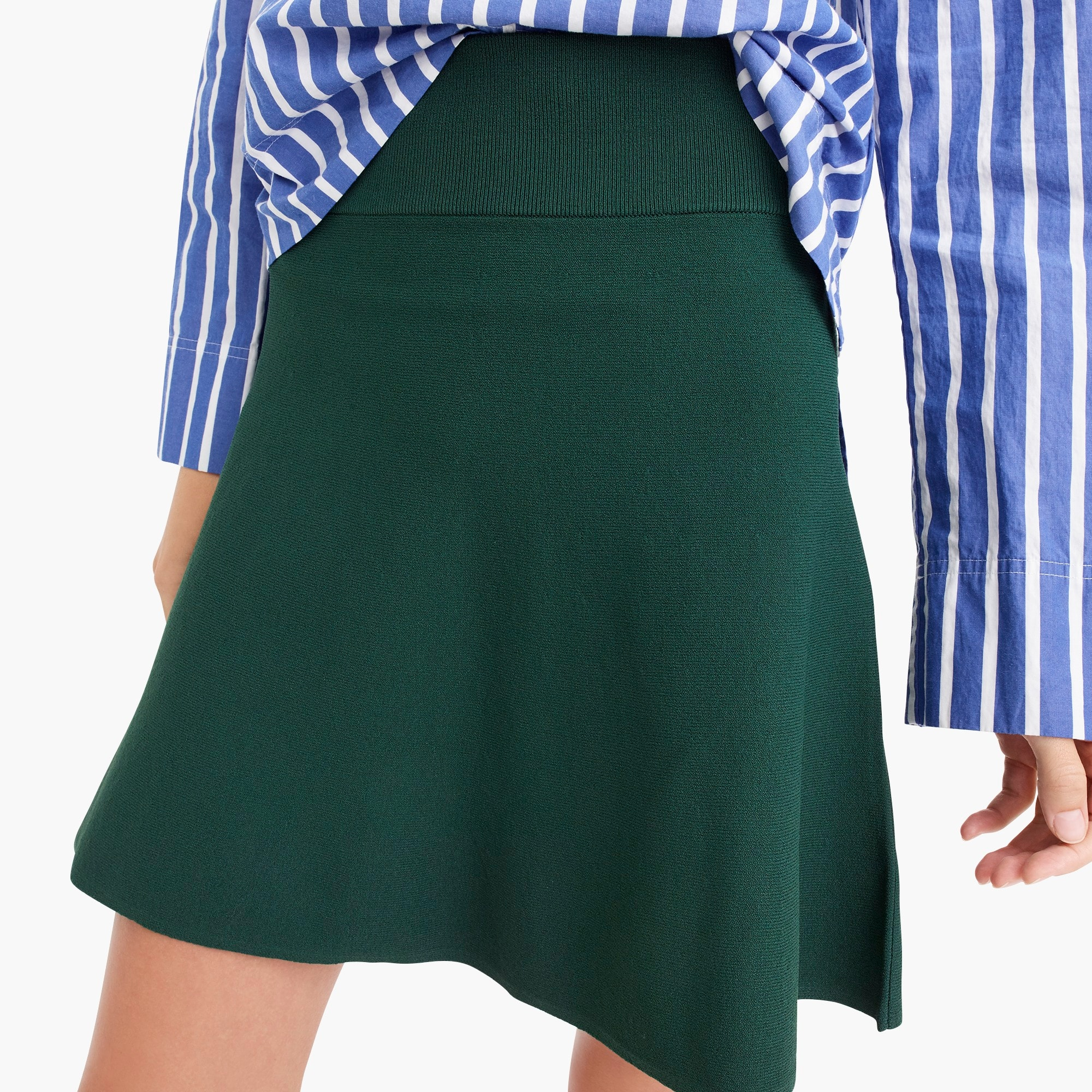 Image 2 for Petite sweater flare mini skirt