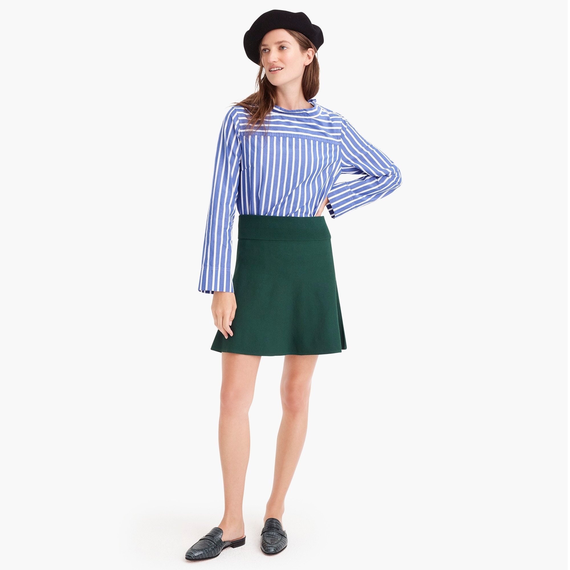 Image 3 for Petite sweater flare mini skirt