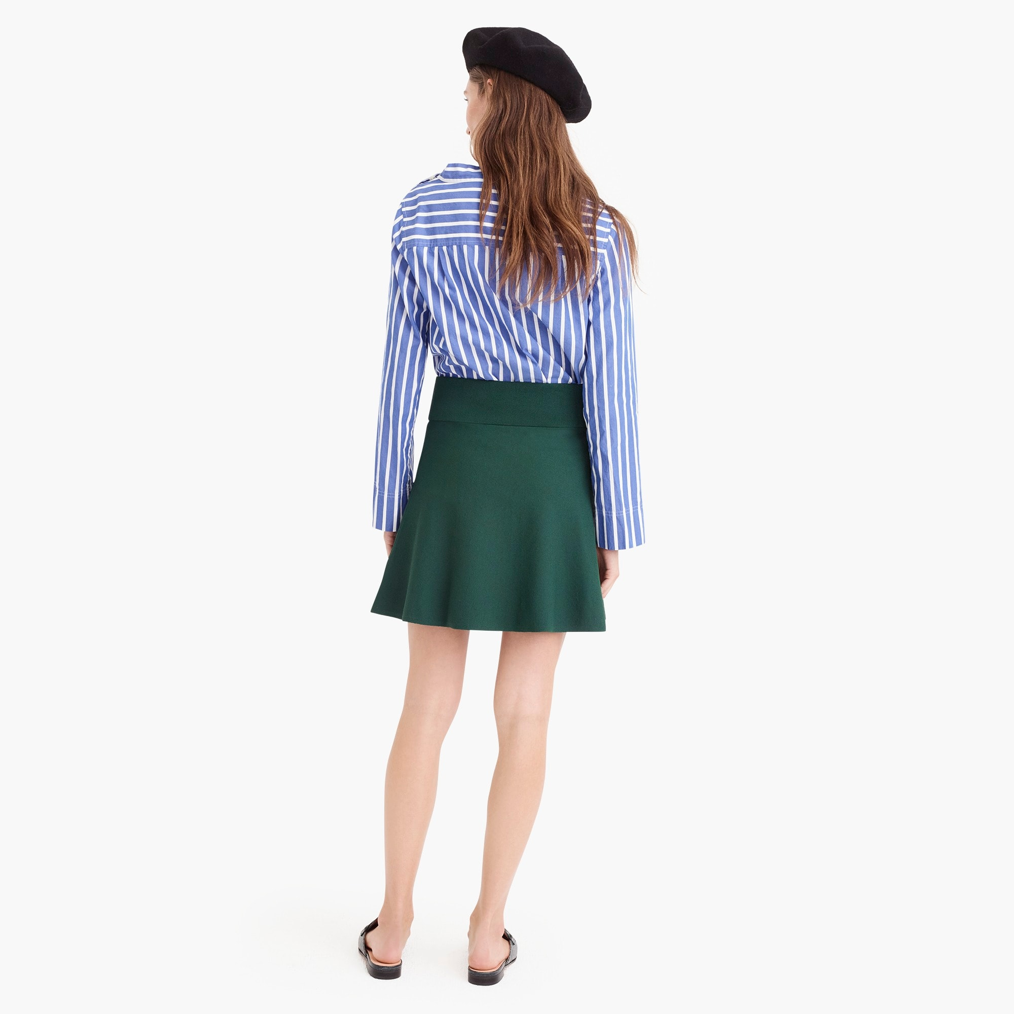Petite sweater flare mini skirt