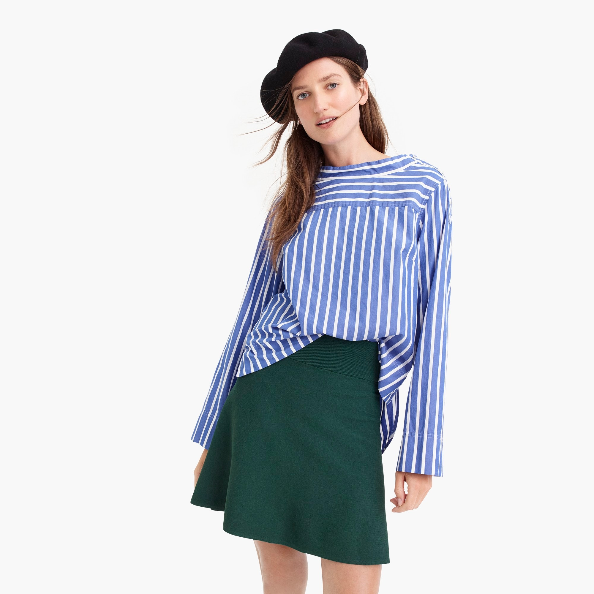 petite sweater flare mini skirt : women skirts