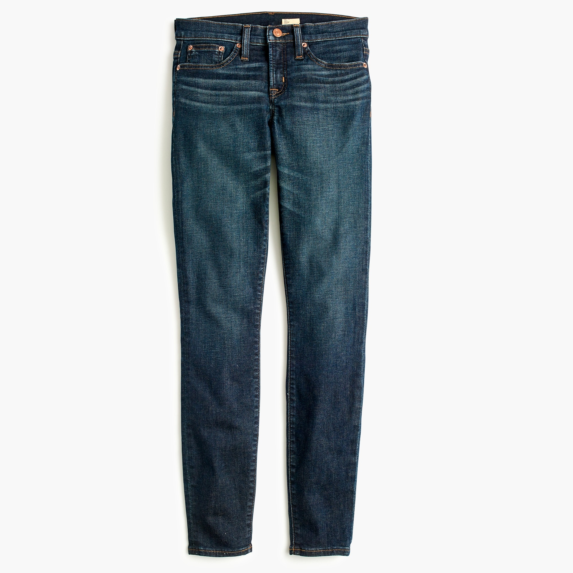 "Image 2 for 8"" toothpick jean in deep worn wash"