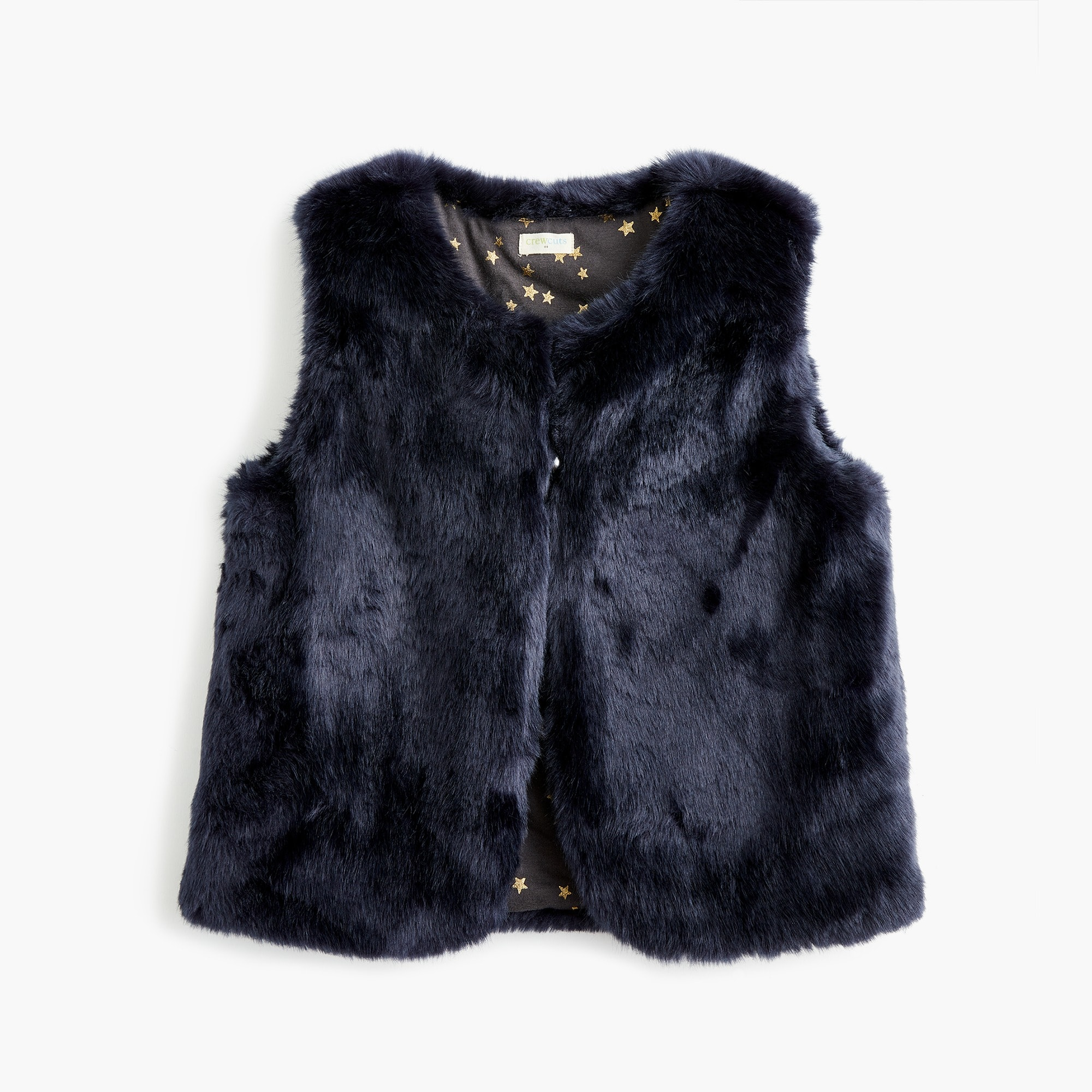 Girls' reversible faux-fur vest
