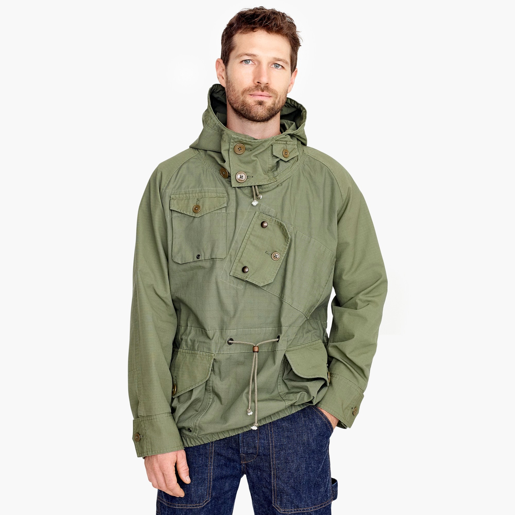 mens Canoeist smock in ripstop cotton