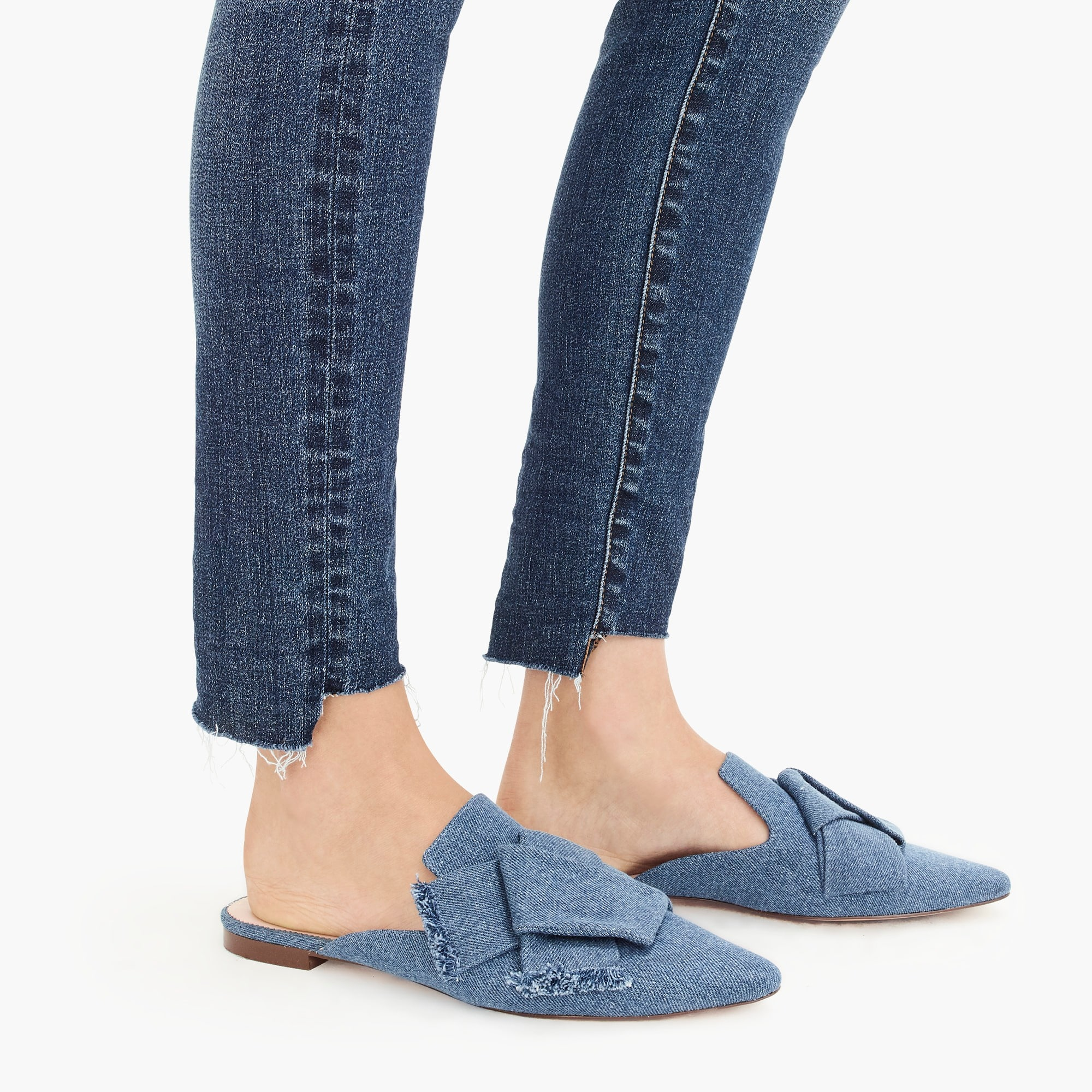 "9"" high-rise toothpick jean with step hem"
