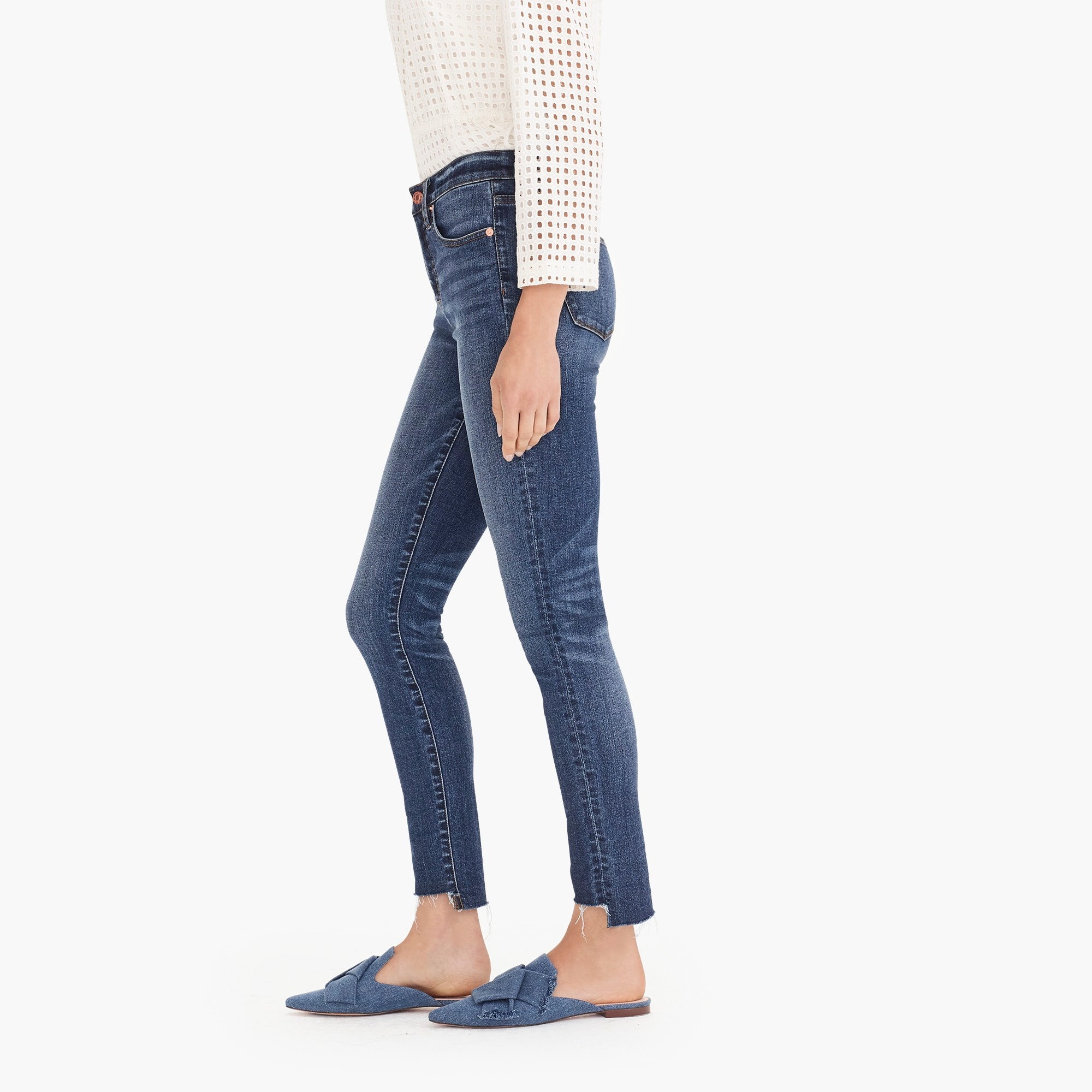 "Image 4 for 9"" high-rise toothpick jean with step hem"