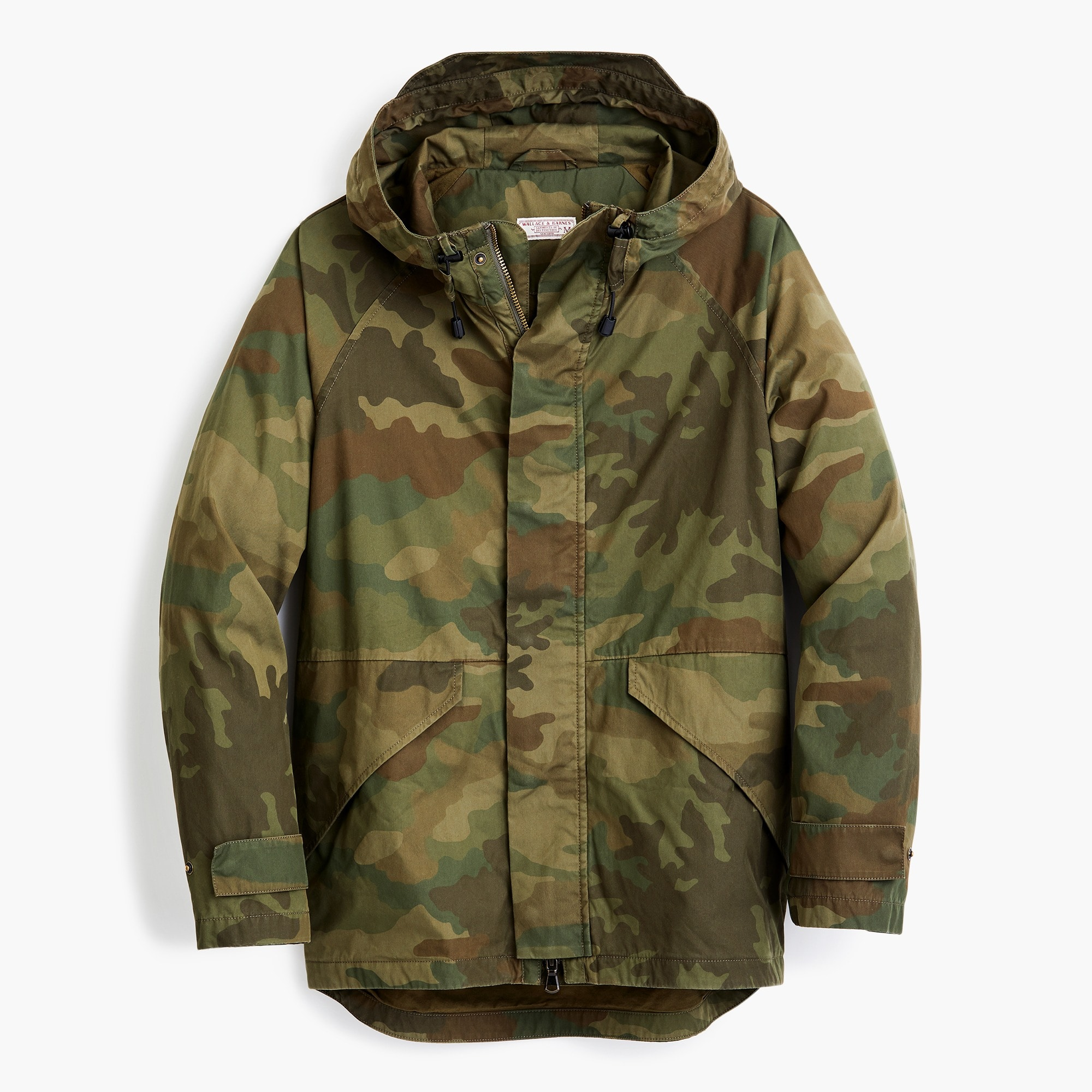 Image 6 for Cotton-nylon hooded jacket in camo