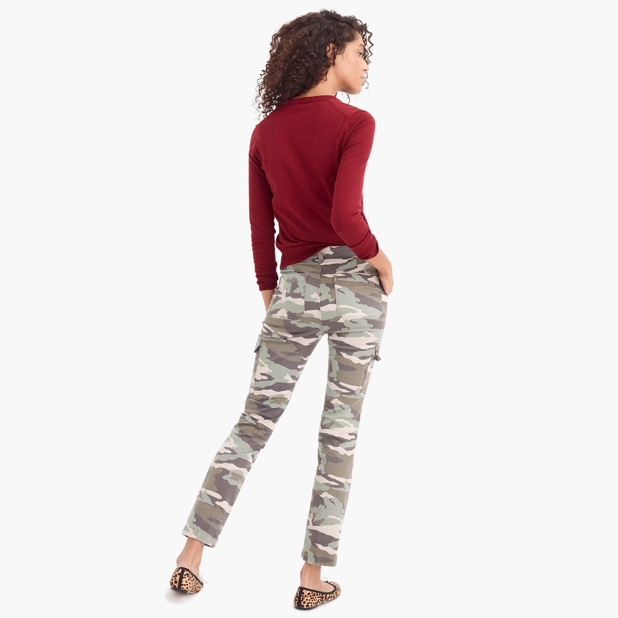 Image 5 for Petite Vintage straight cargo pant in camo