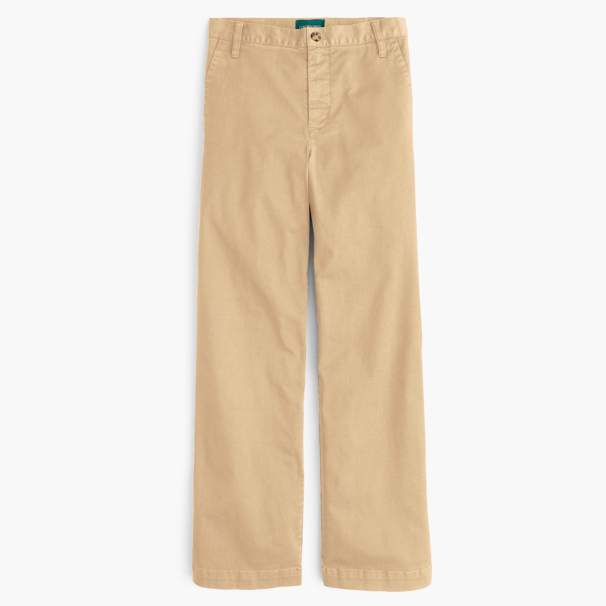 Image 1 for Petite full-length wide-leg chino pant