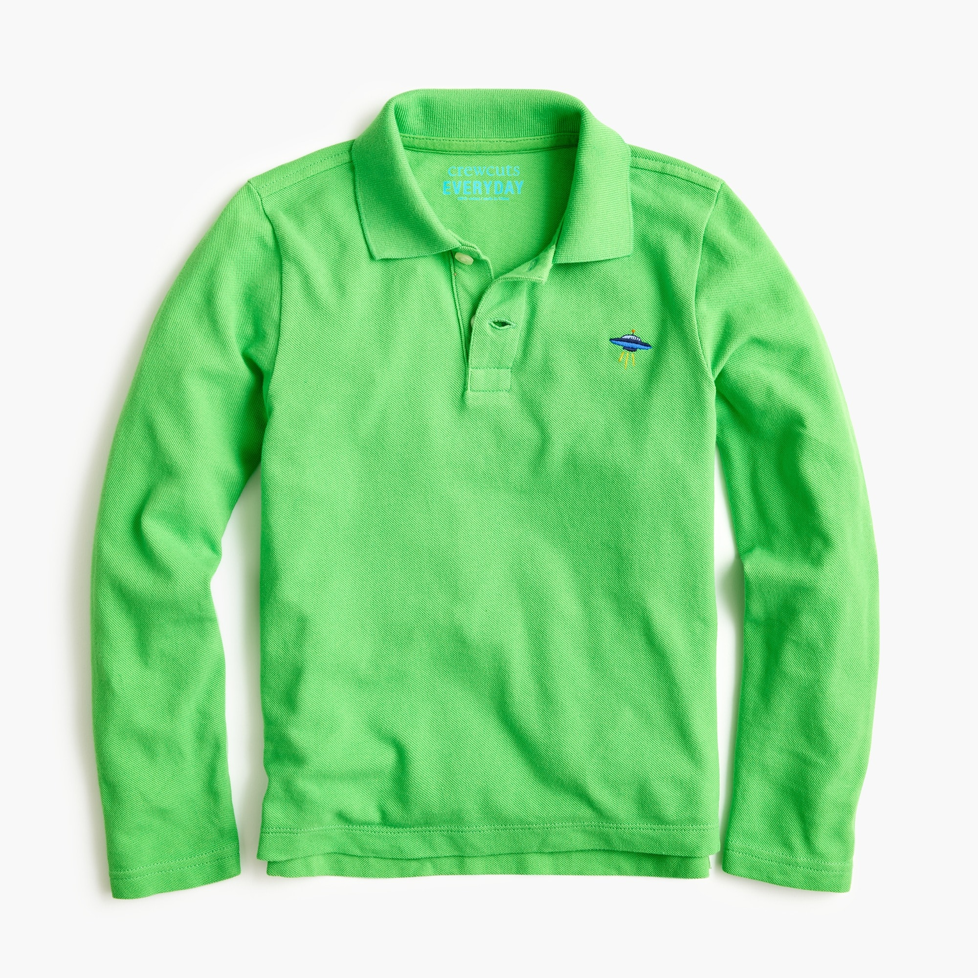 boys Boys' long-sleeve critter polo shirt
