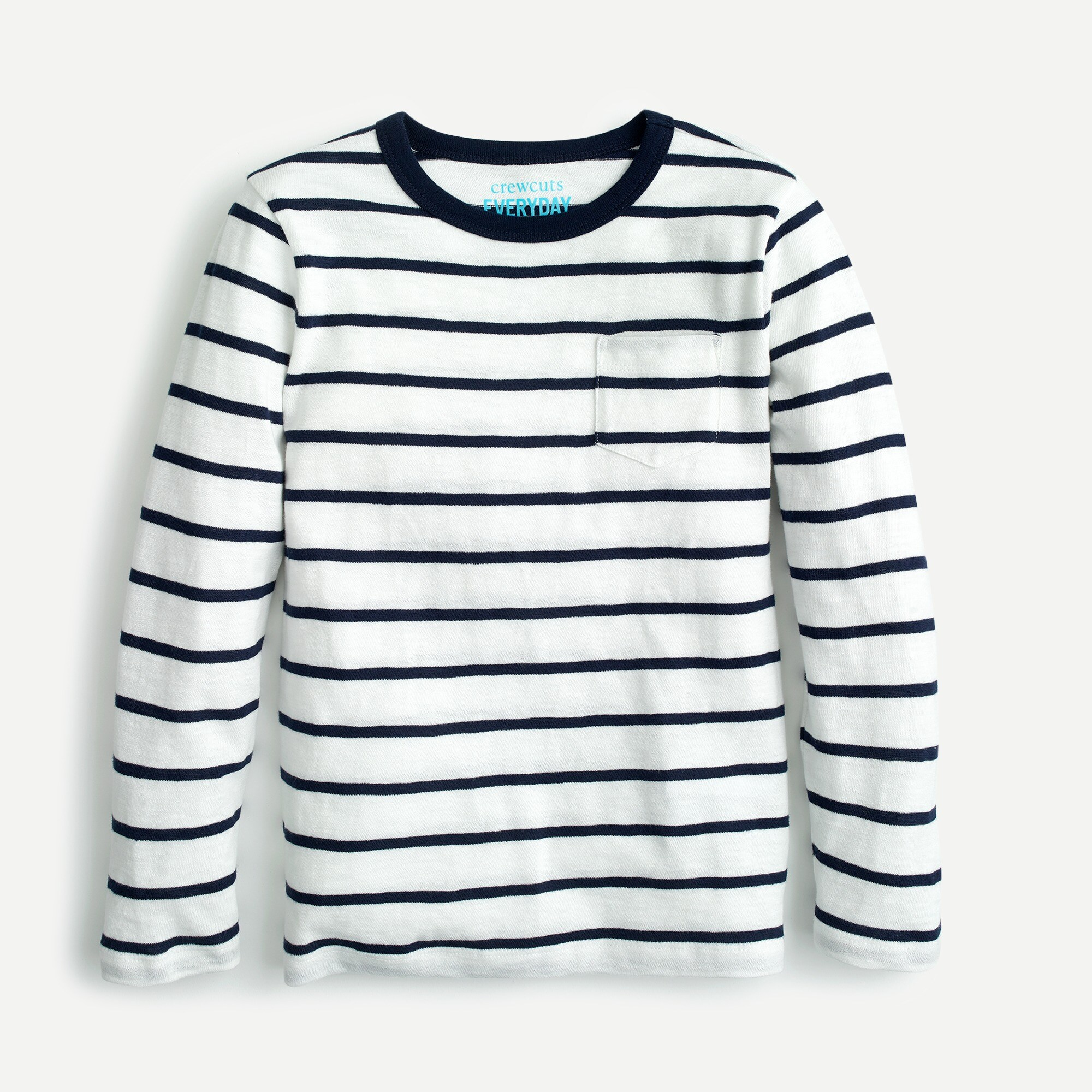boys Boys' long-sleeve striped T-shirt in slub cotton