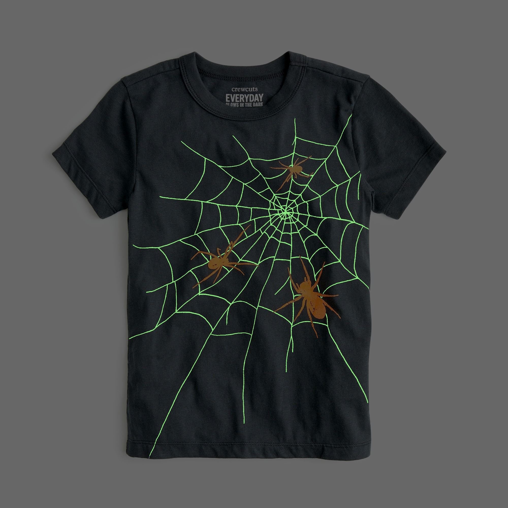 Boys' glow-in-the-dark spider web T-shirt