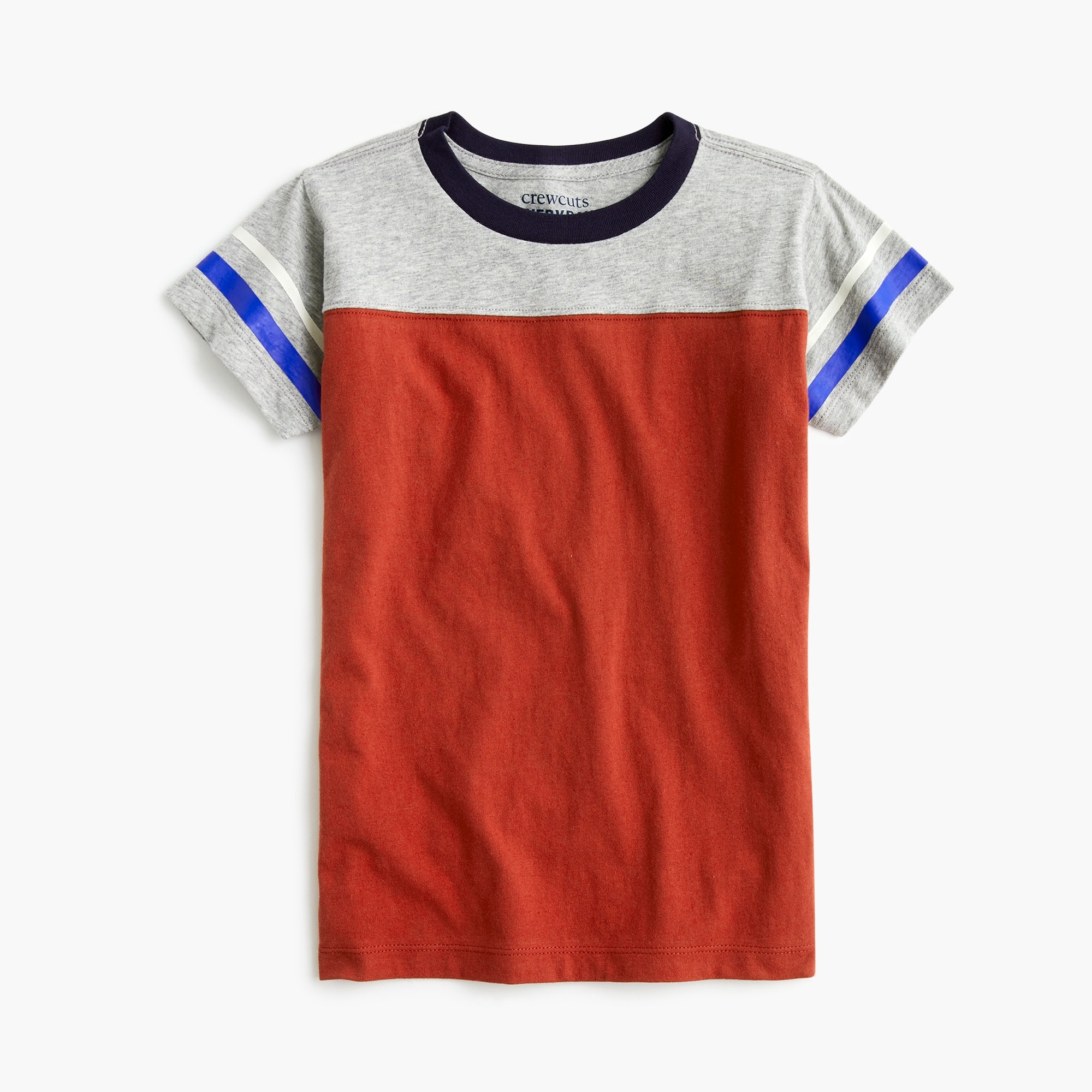 Image 1 for Boys' striped football T-shirt