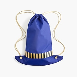 Girls' hat-shaped drawstring backpack