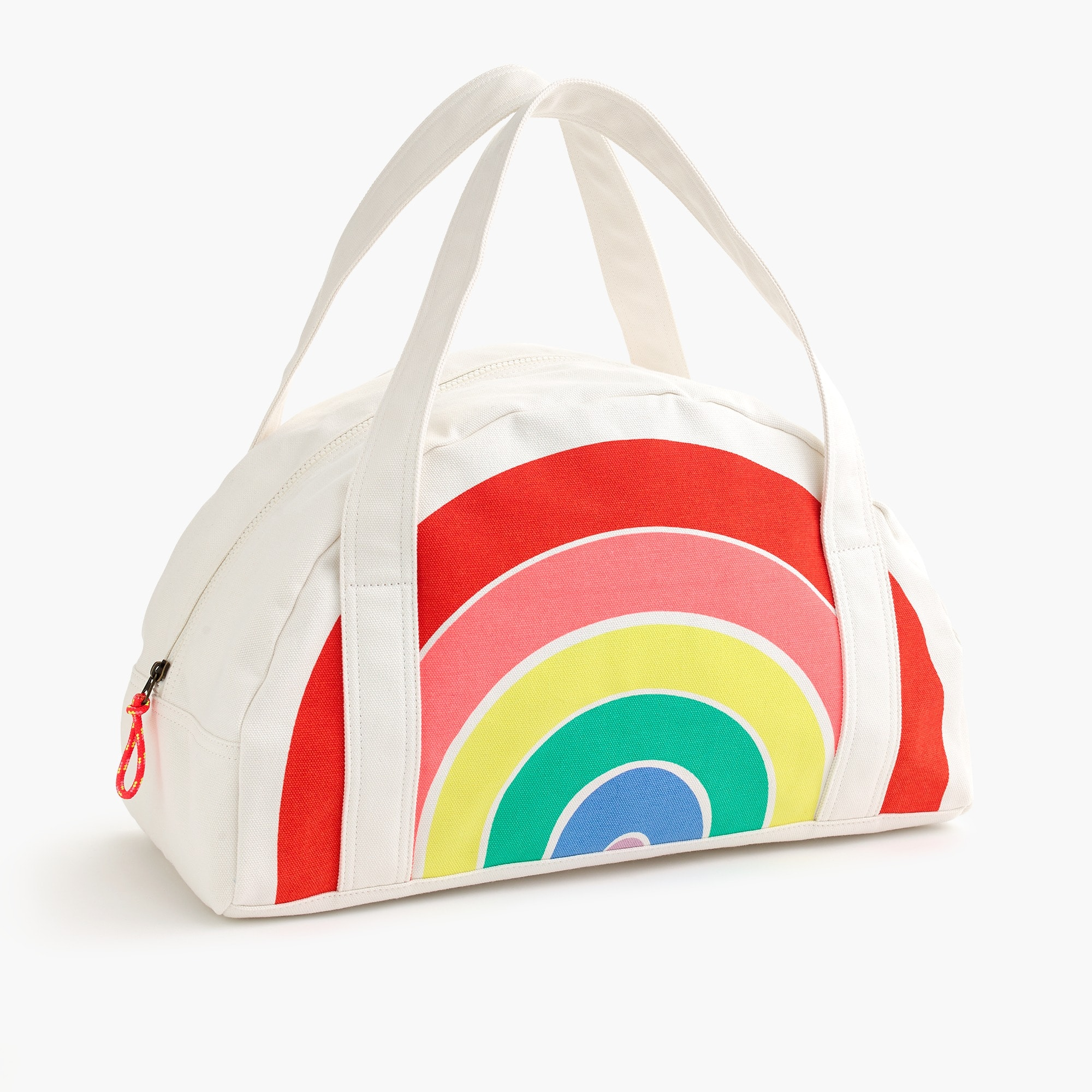 Girls' rainbow overnight bag