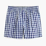 Stretch navy gingham boxers