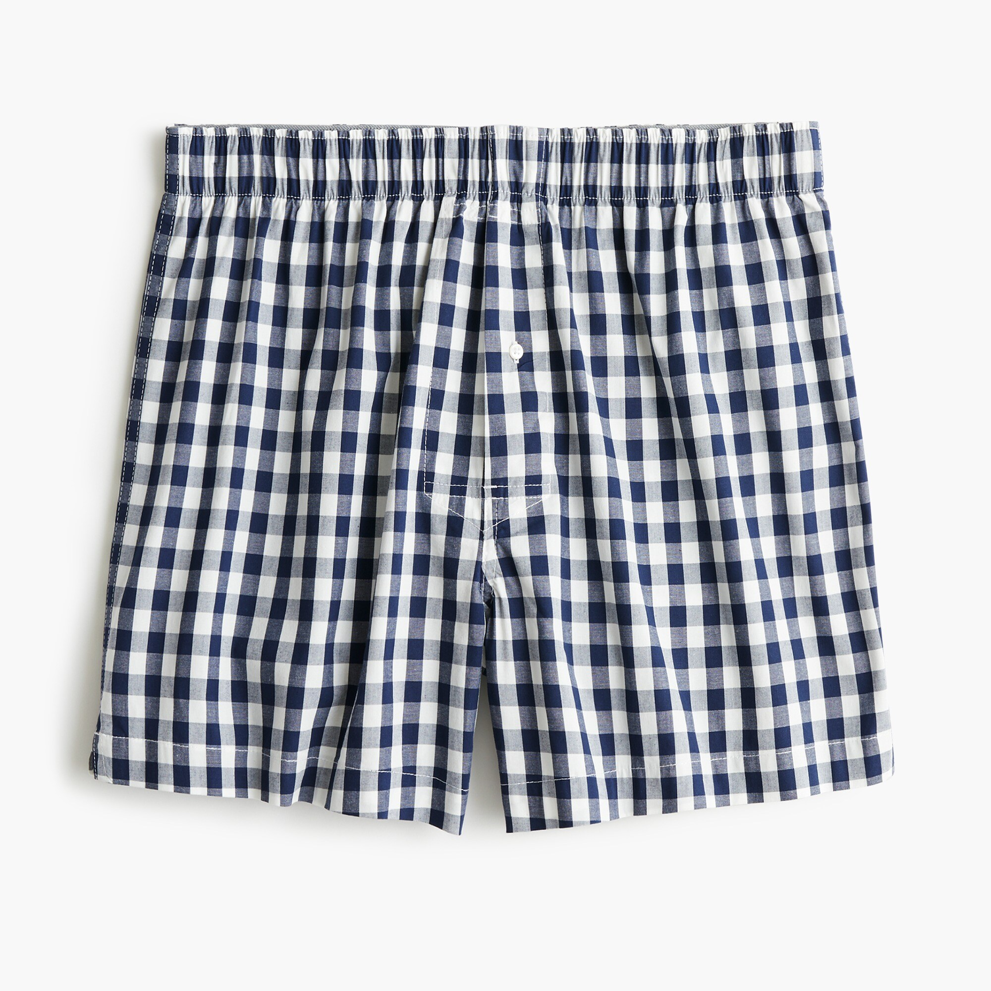 mens Stretch navy gingham boxers