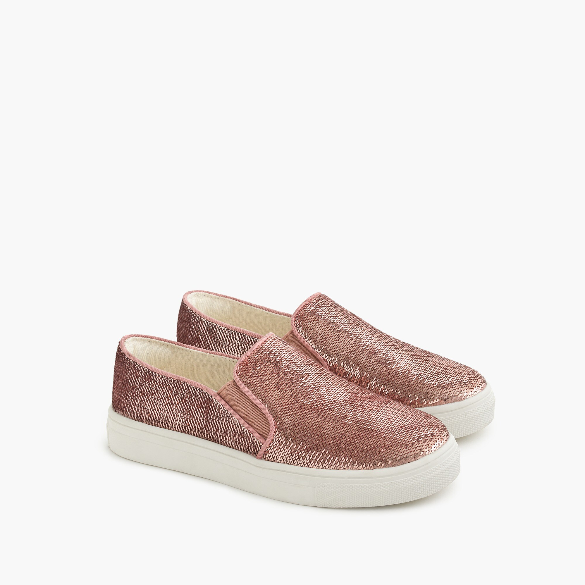 Girls' sequined slip-on sneakers