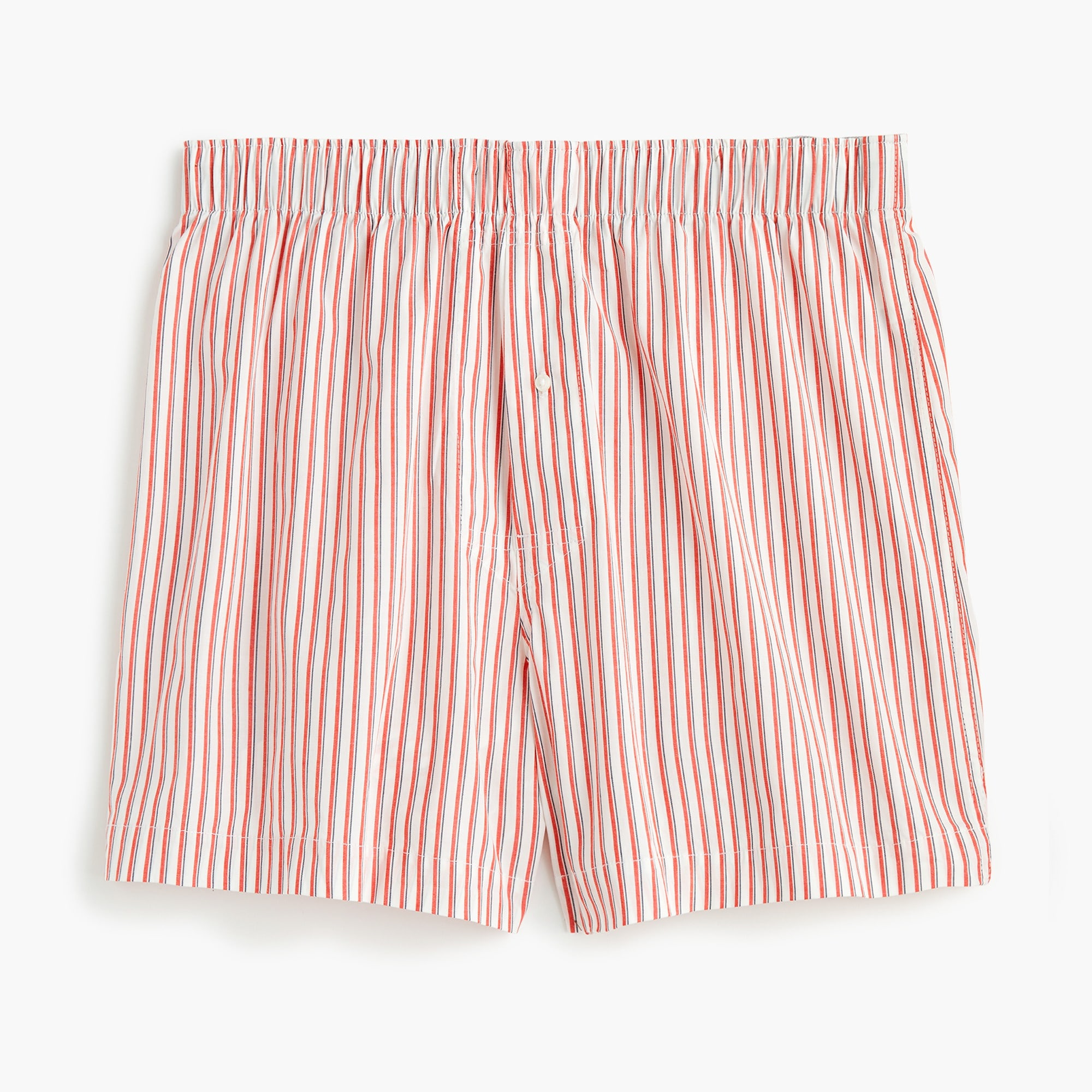 mens Stretch red and white striped boxers