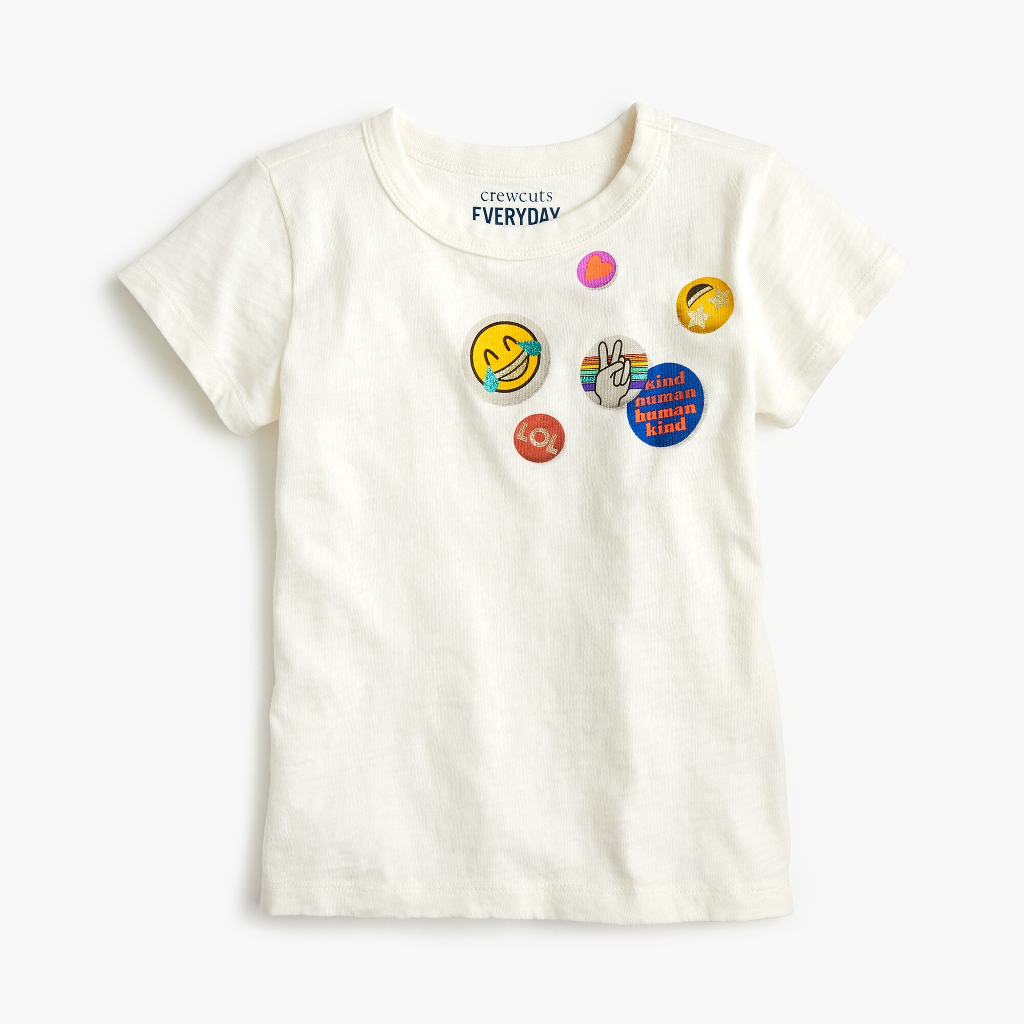 "girls Girls' T-shirt with ""buttons"""