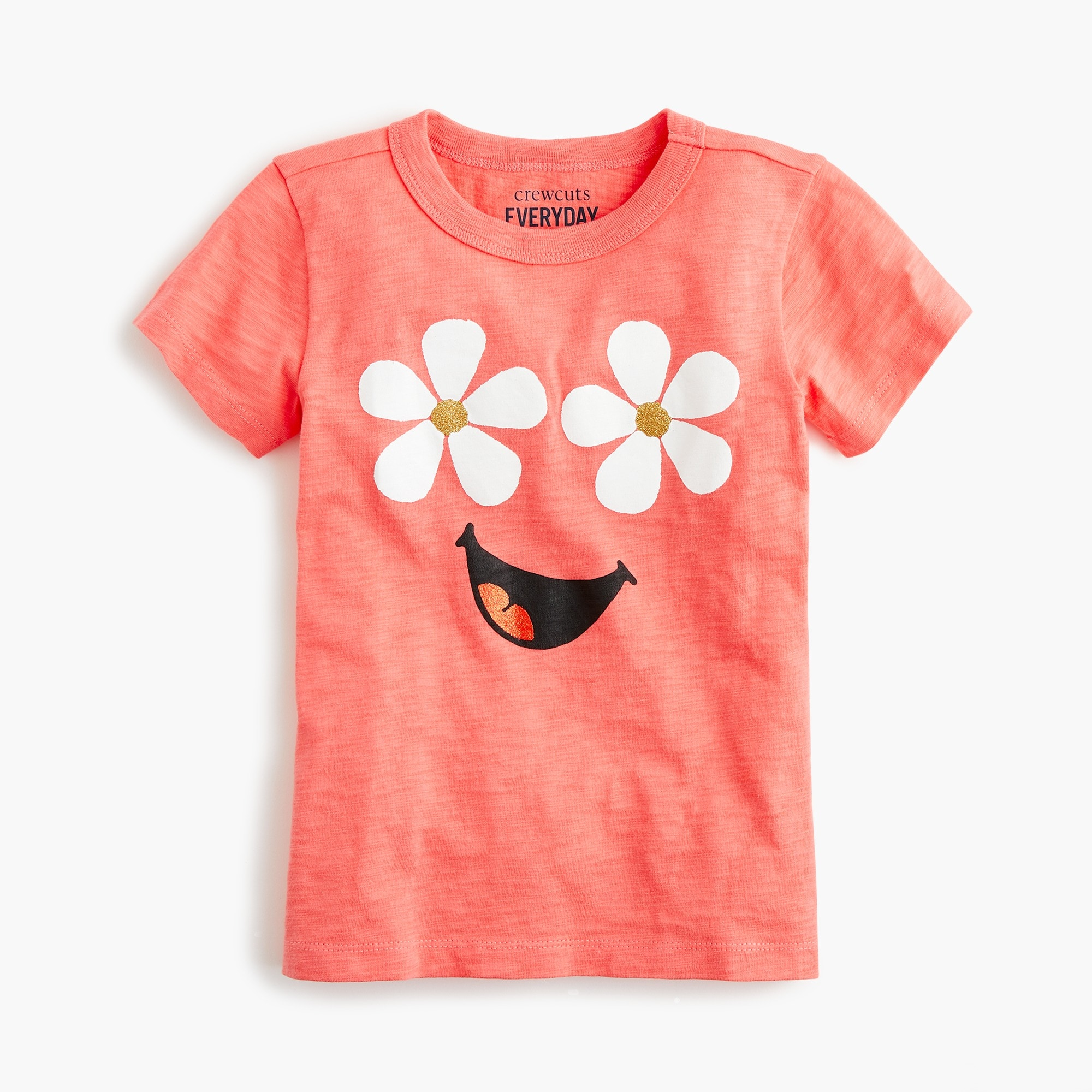 girls Girls' daisy-face T-shirt
