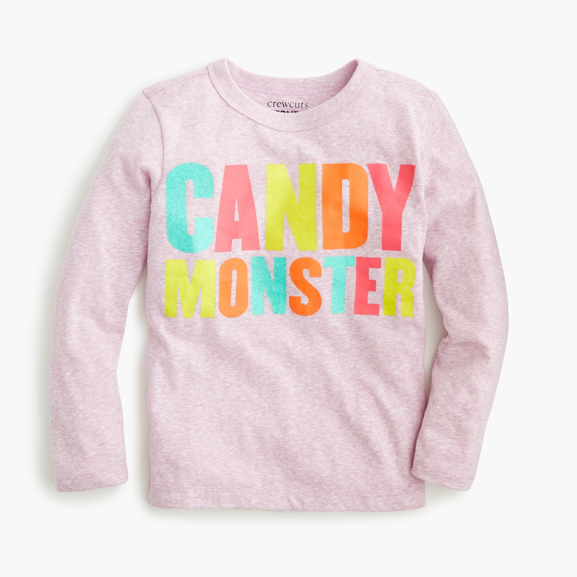 "Girls' ""candy monster"" long-sleeve T-shirt"