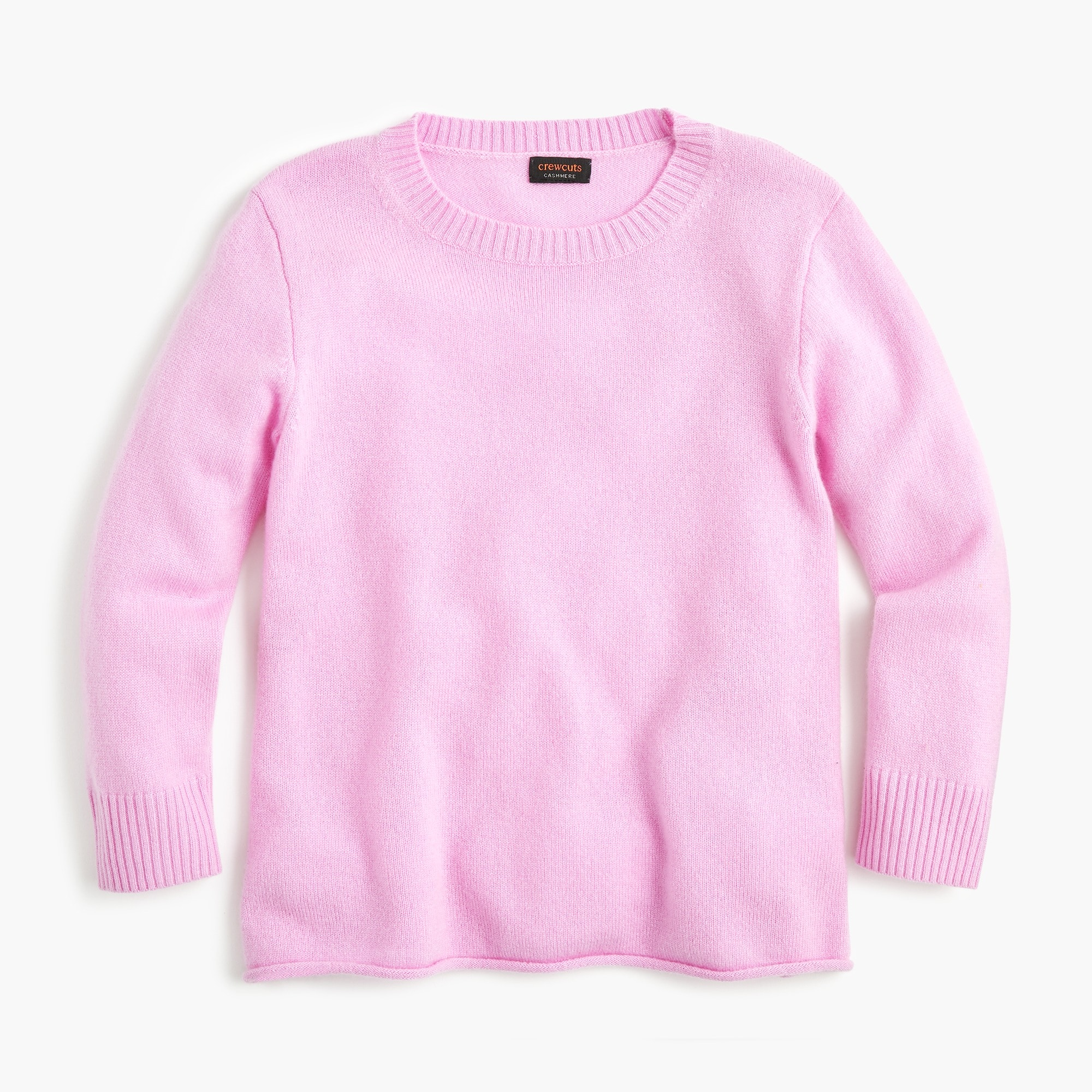 girls Girls' cashmere A-line popover sweater