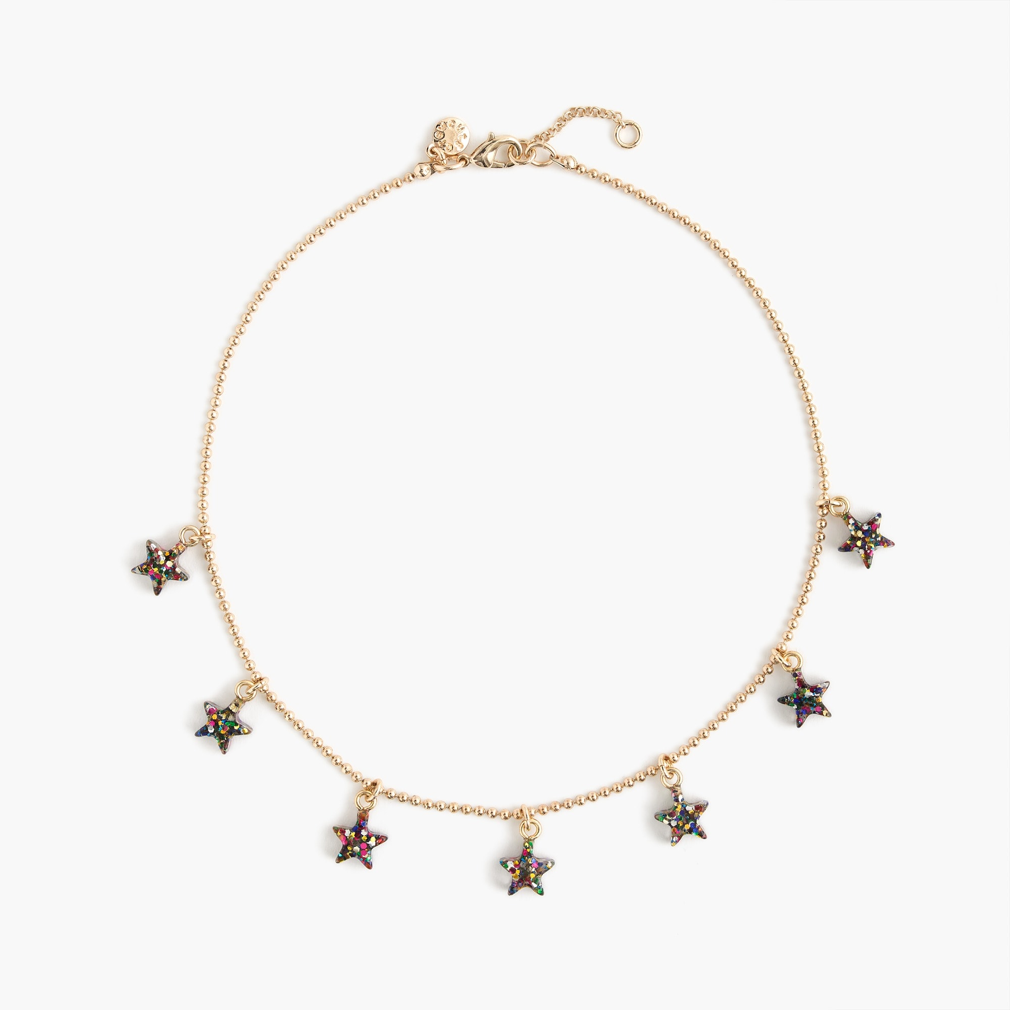 girls Girls' choker necklace with glitter stars