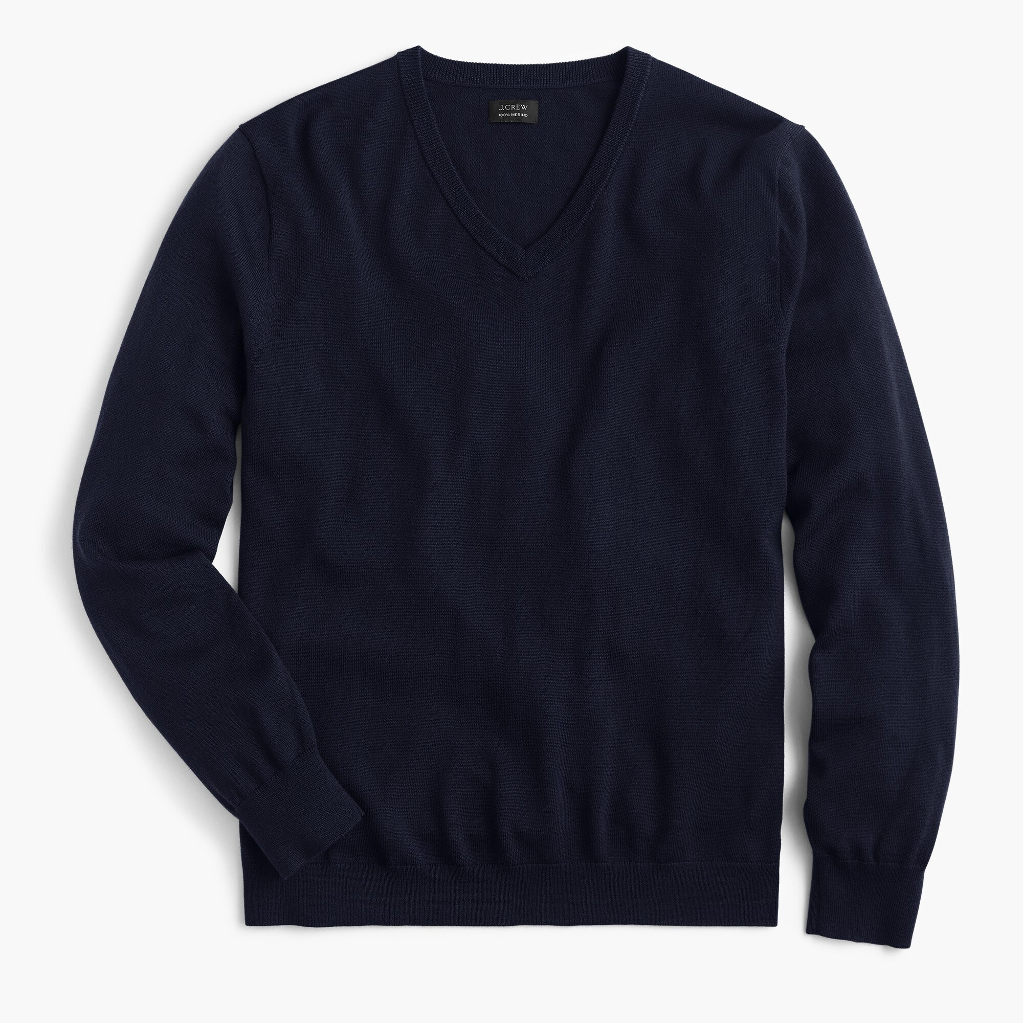 mens Tall merino wool V-neck sweater