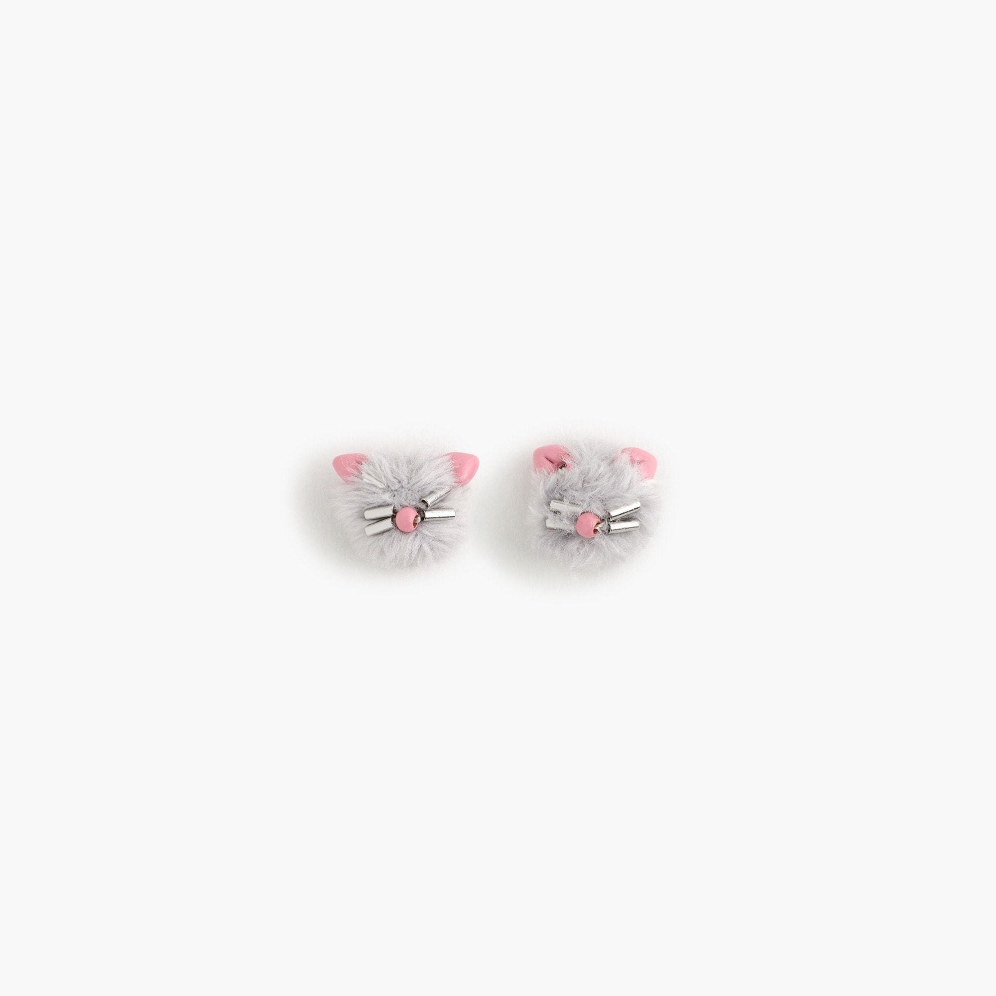 girls Girls' kitty stud earrings