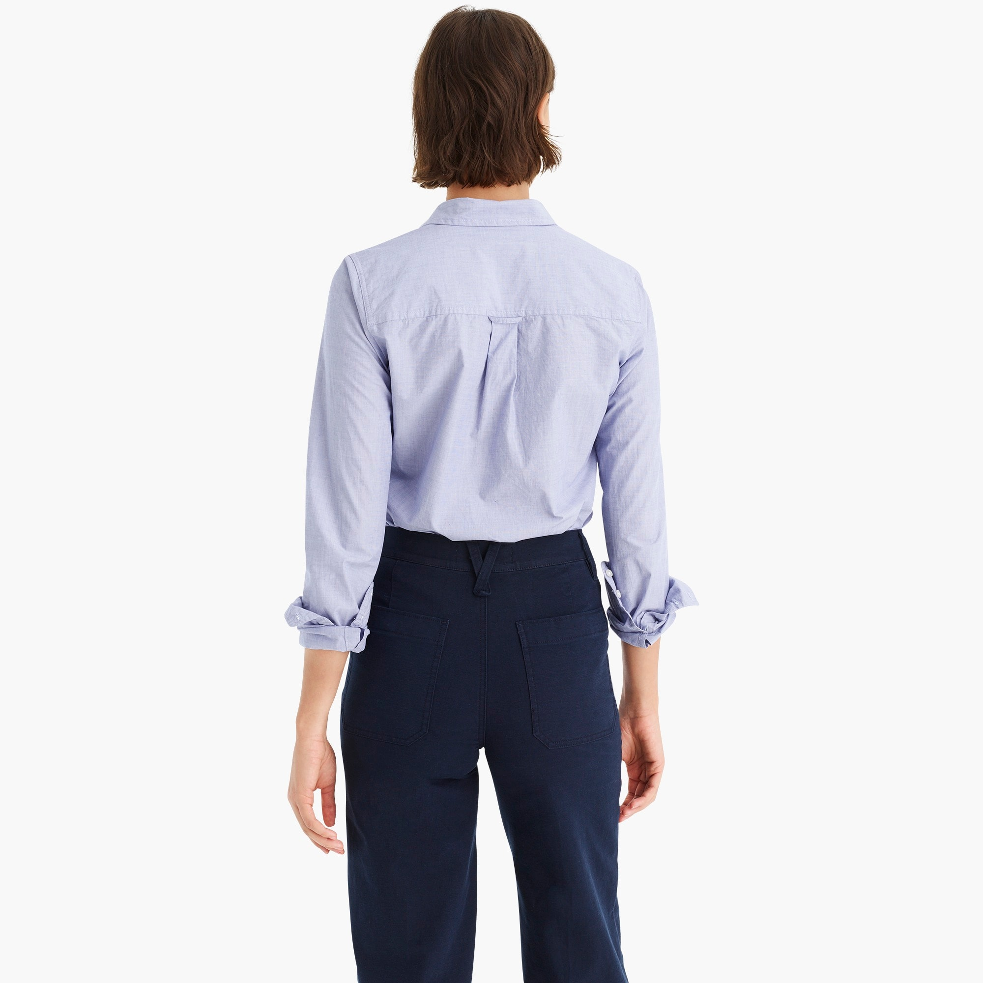 Image 5 for Classic-fit boy shirt in end-on-end cotton