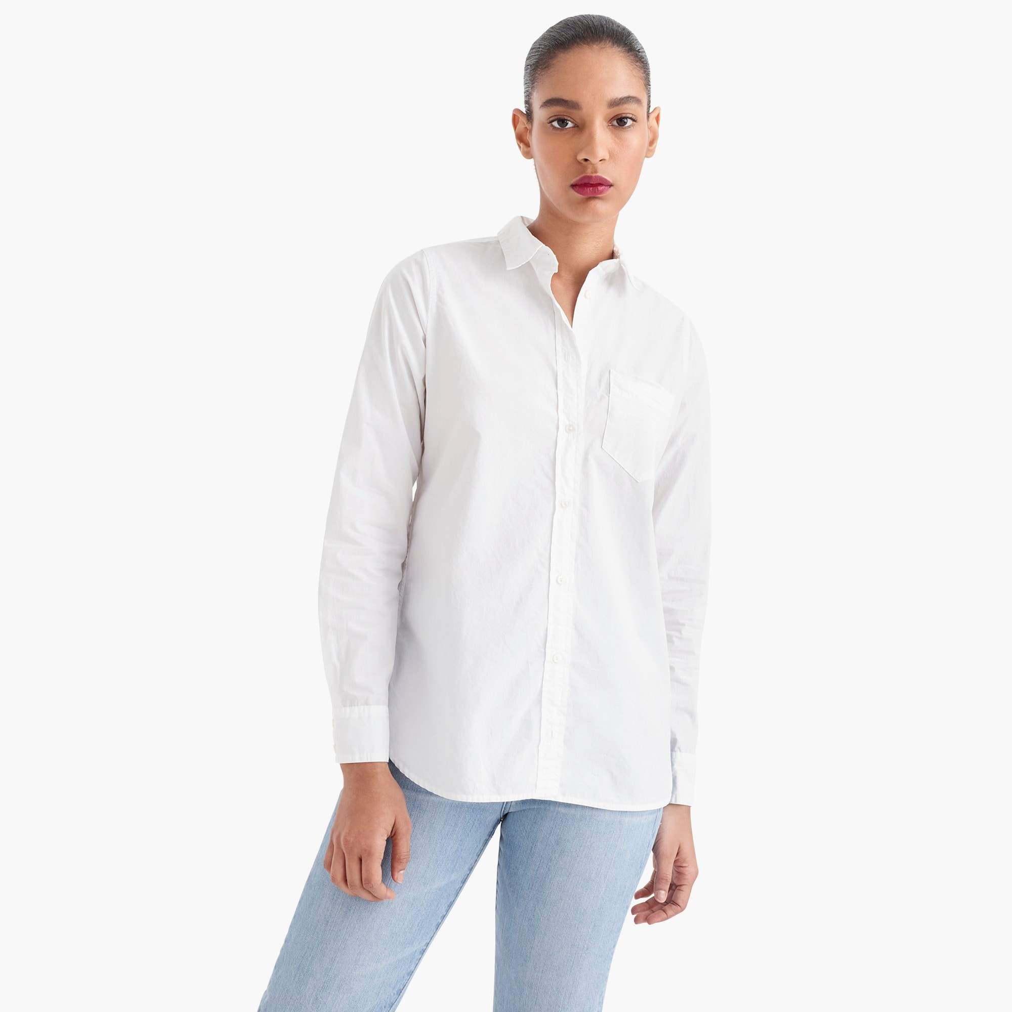 Image 3 for Tall classic-fit boy shirt in cotton poplin