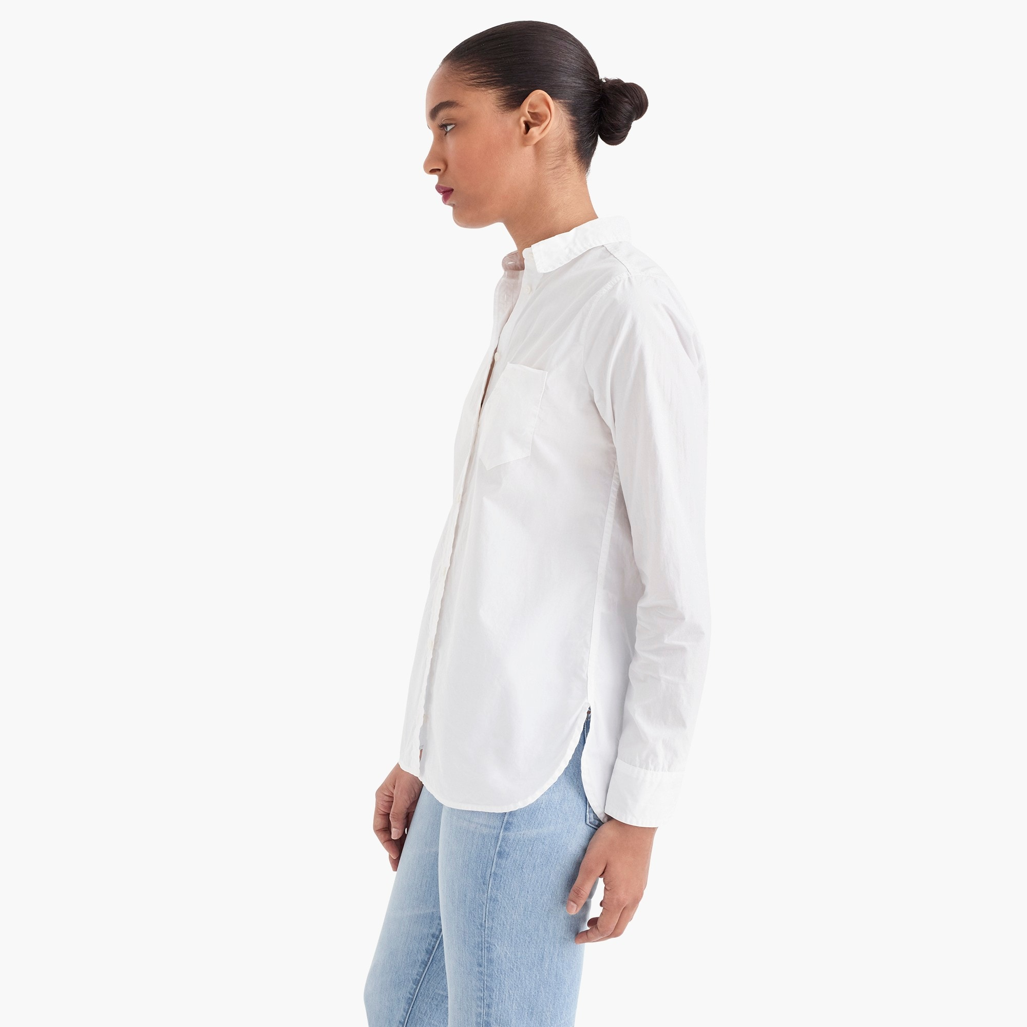 Image 4 for Tall classic-fit boy shirt in cotton poplin