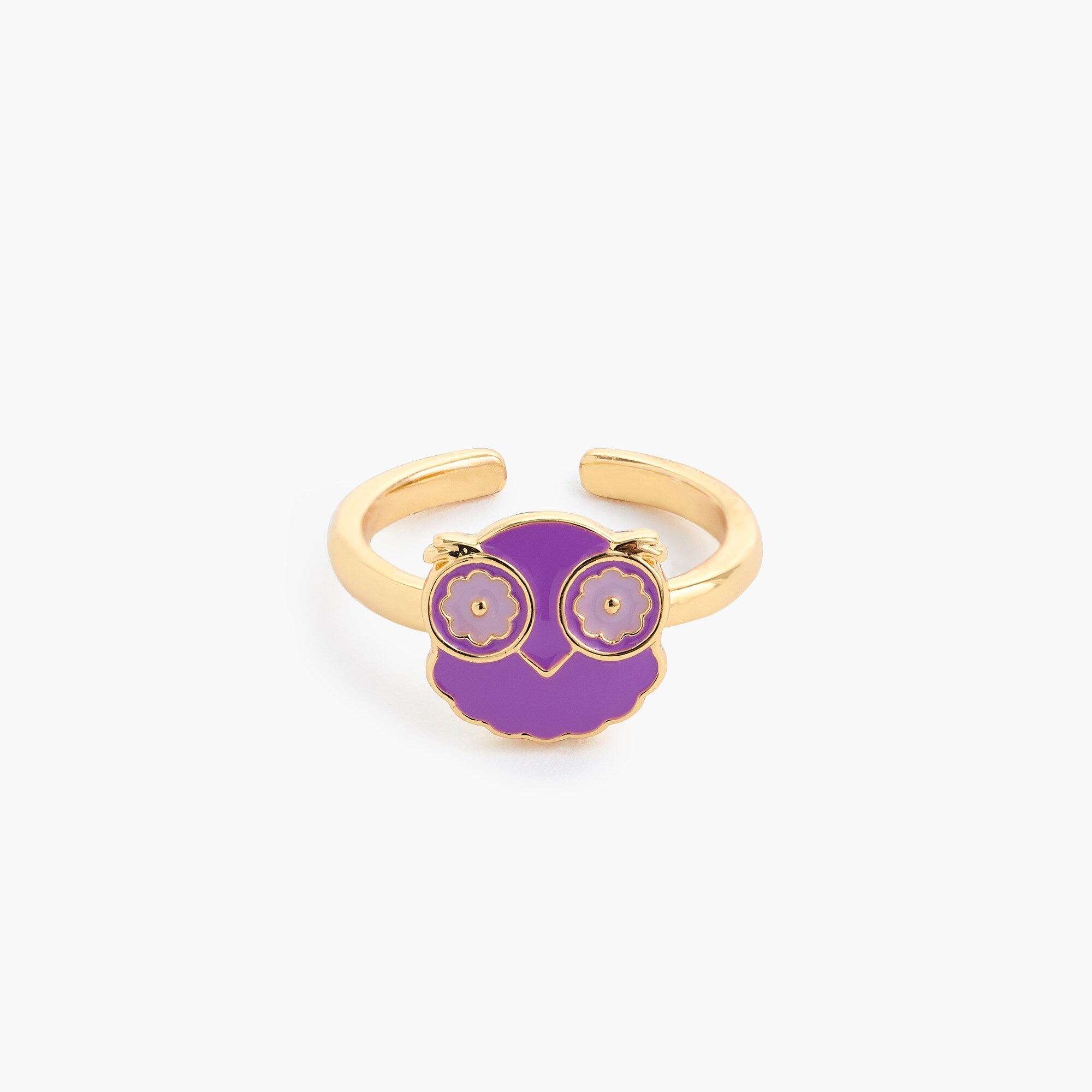 Girls' enamel adjustable rings