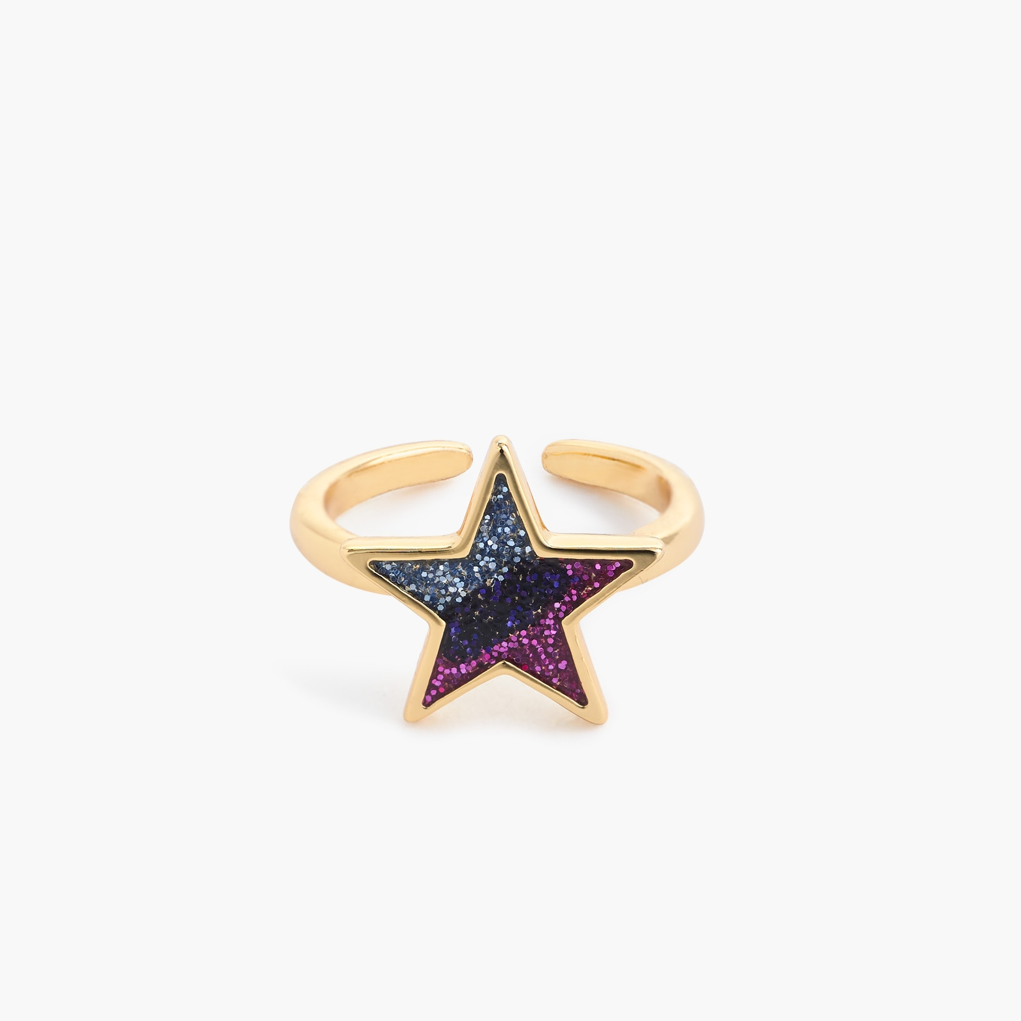 girls Girls' glitter adjustable rings