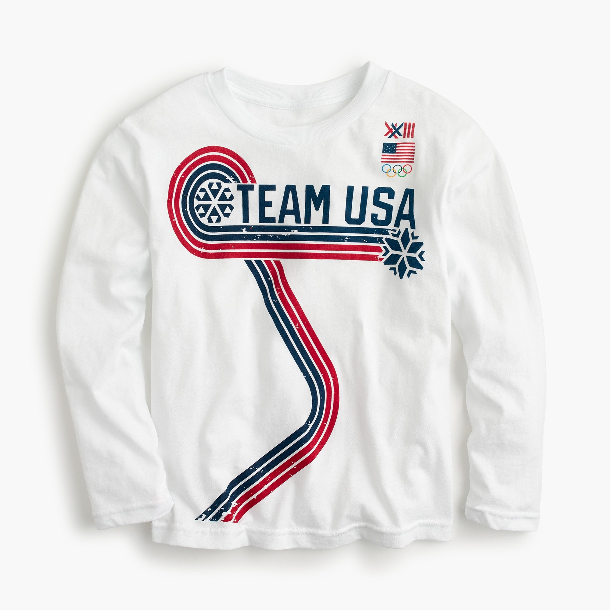 Kids' long-sleeve Team USA T-shirt boy new arrivals c