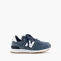 Kids' crewcuts X New Balance® 574 sneakers in chambray