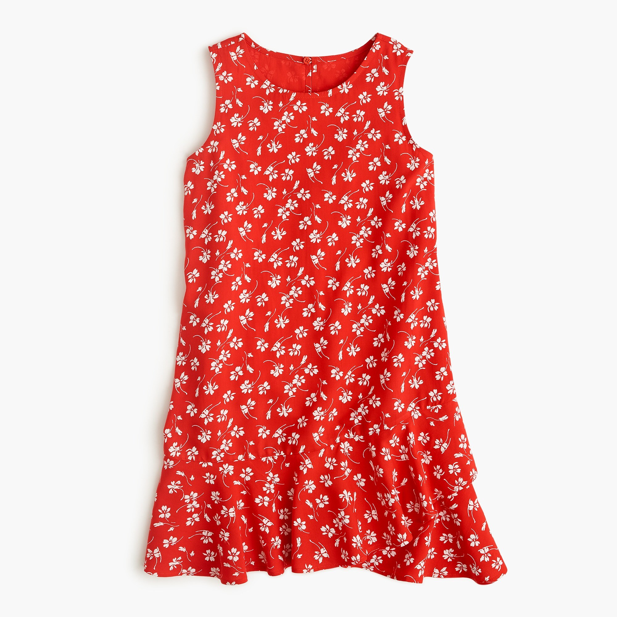 Image 1 for Girls' ruffle-hem dress in fresh daisies