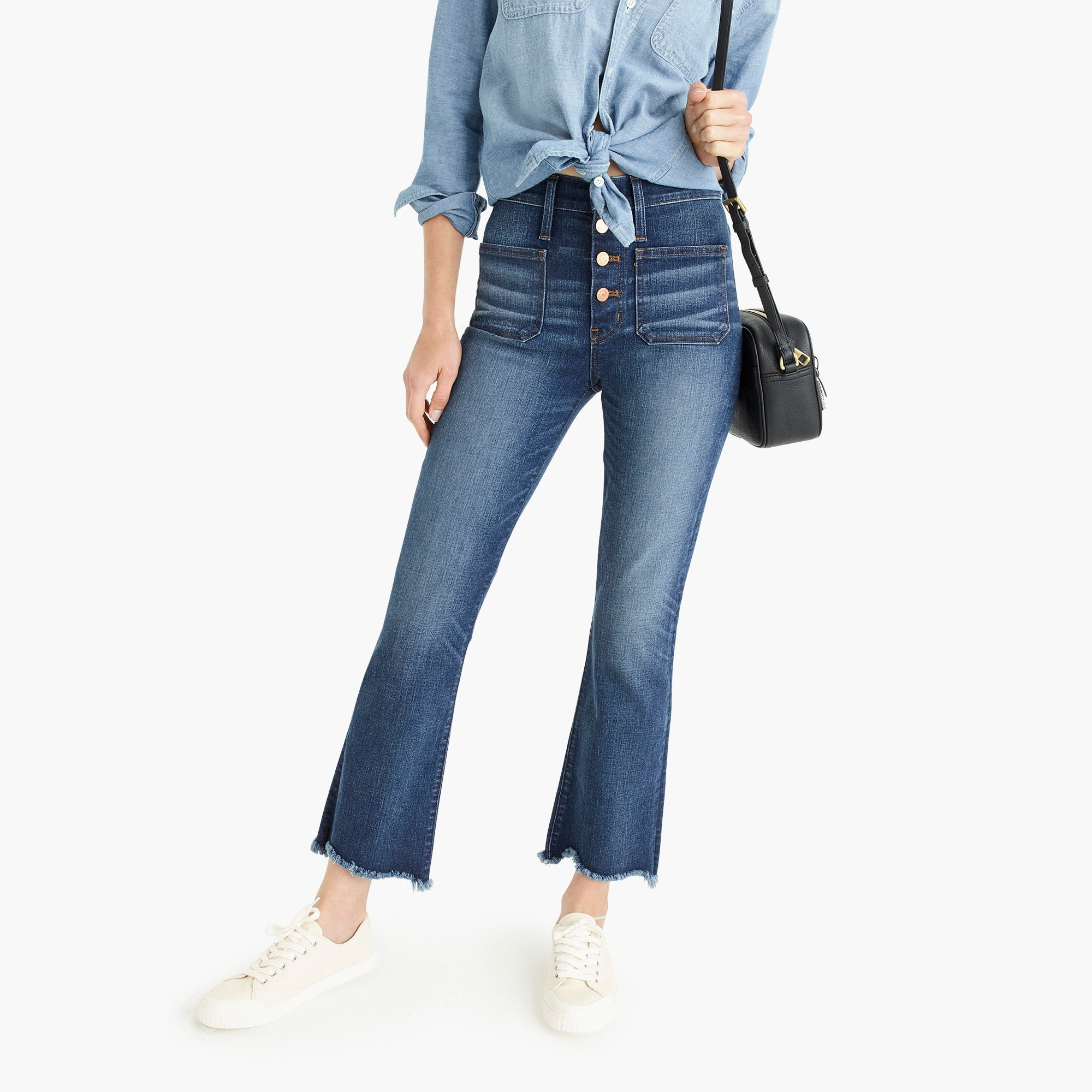 "Image 1 for Point Sur 10"" high-rise demi-boot jean with button fly"