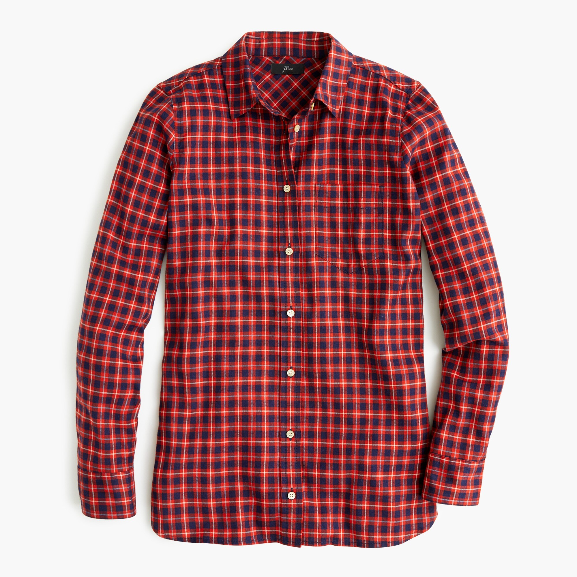 Classic-fit shirt in brushed twill flannel