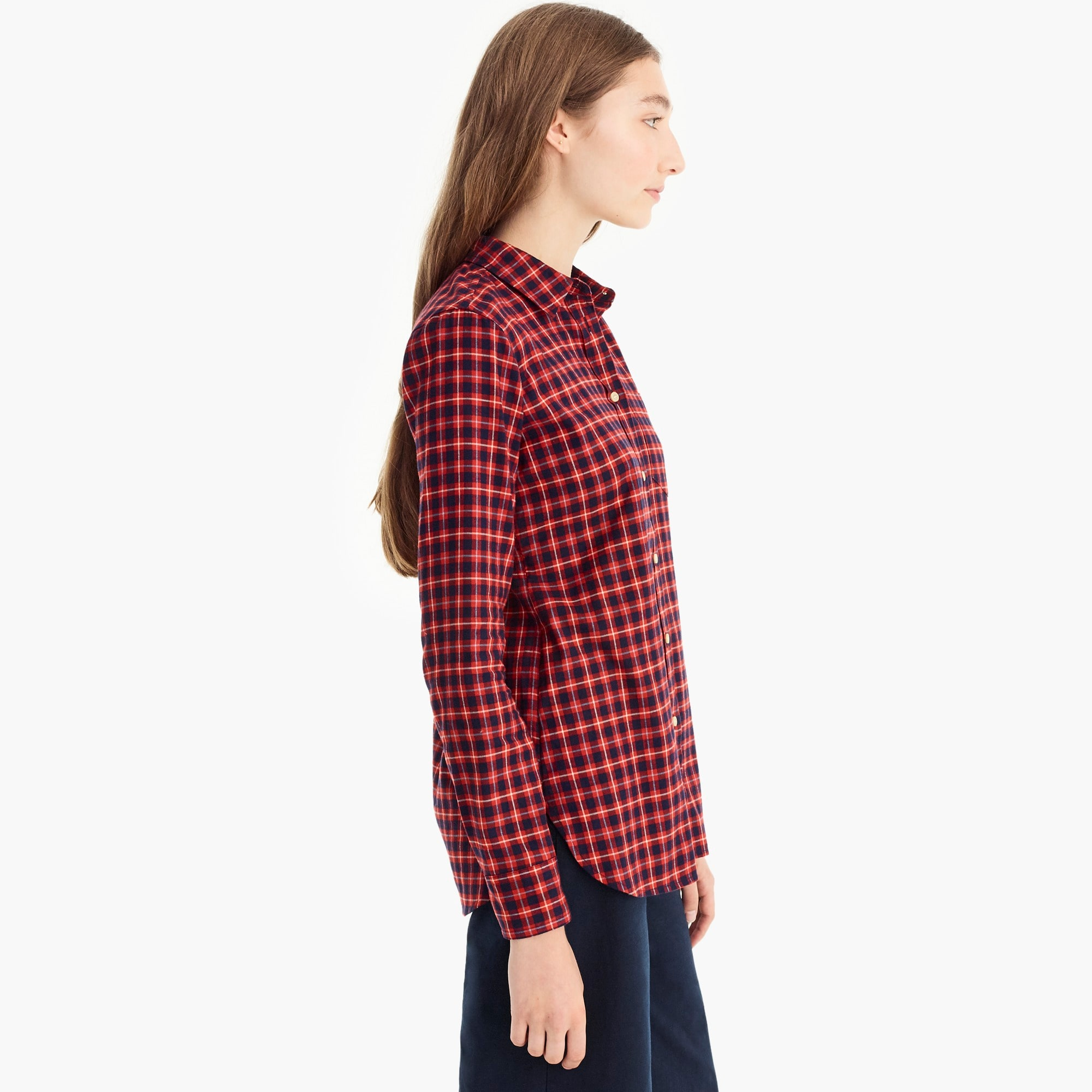 Image 4 for Classic-fit shirt in brushed twill flannel