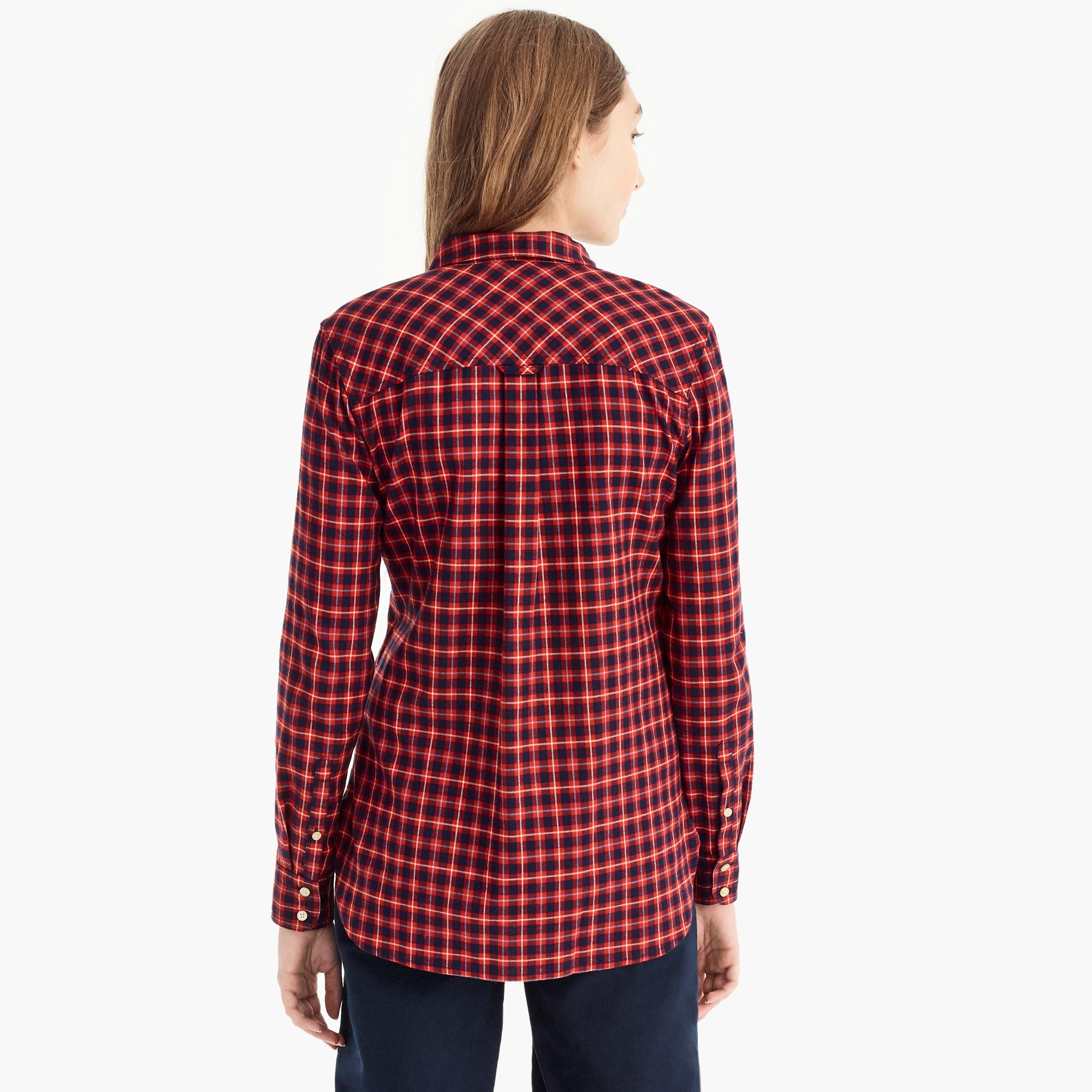 Image 5 for Classic-fit shirt in brushed twill flannel