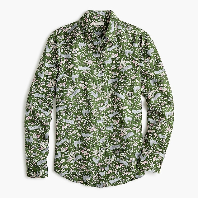 3f43a7f1acecf9 j.crew: collection silk twill button-up in jungle cat print, right