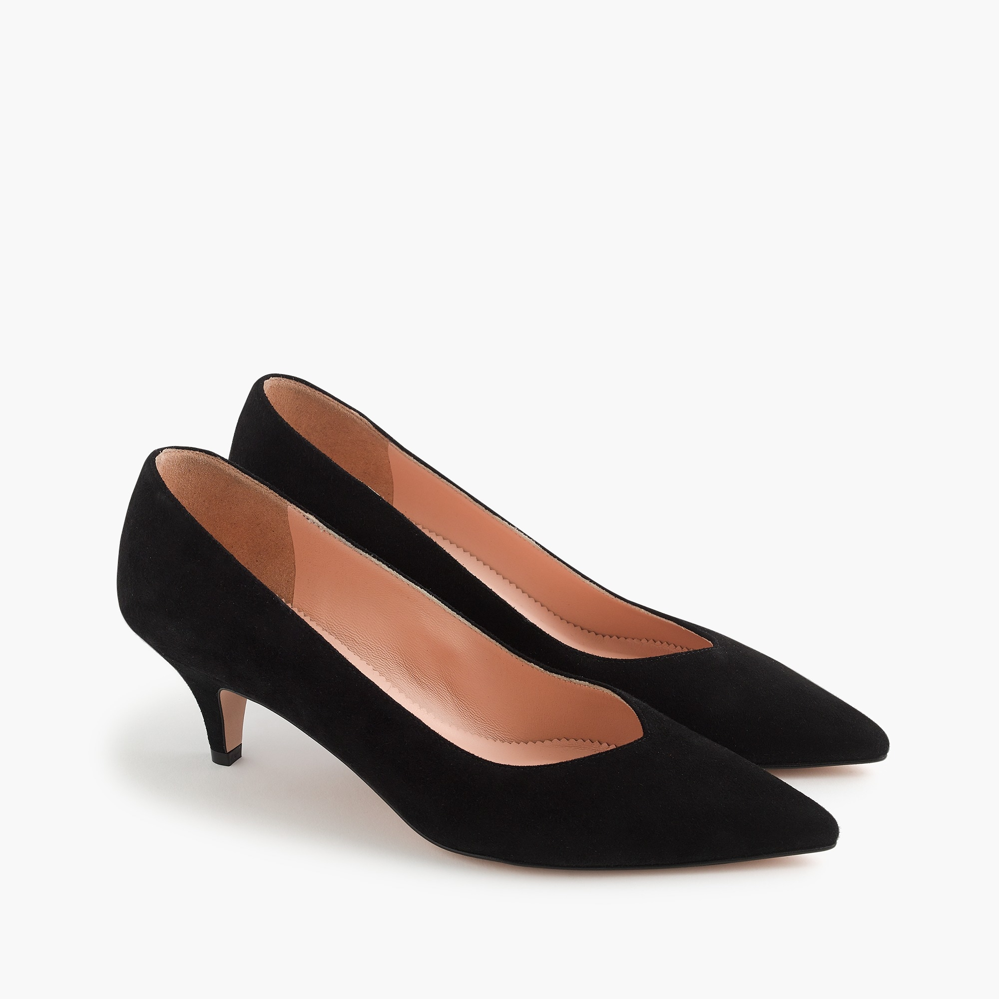womens Dulci V-cut kitten heels in suede