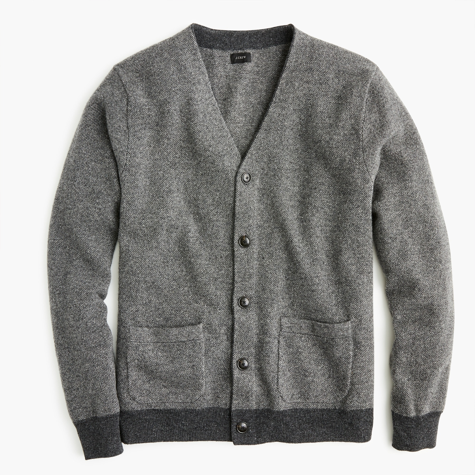 American lambswool bird's-eye cardigan sweater