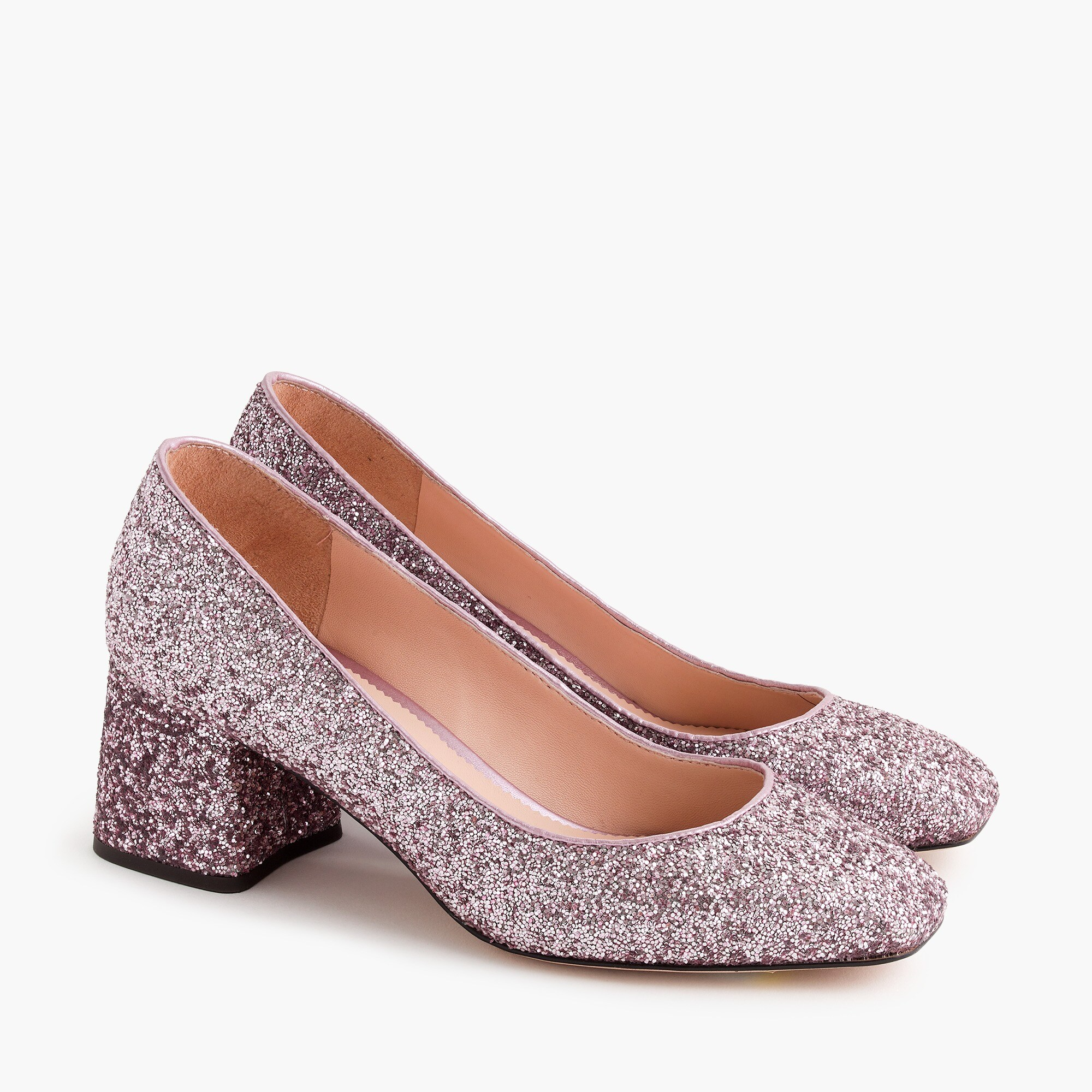 womens Block-heel pumps in glitter