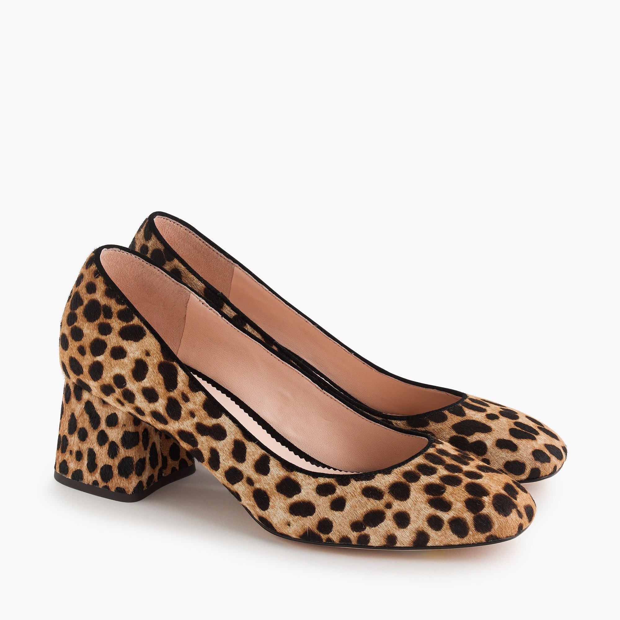 womens Block-heel pumps in leopard