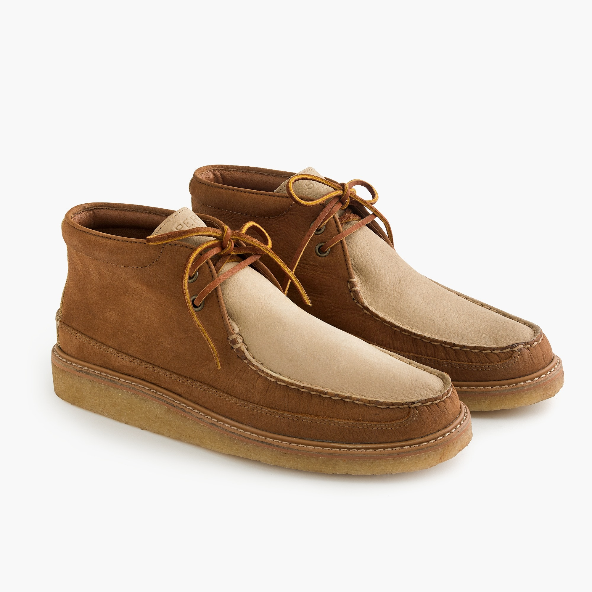 mens Sperry® for J.Crew crepe soled leather chukka boots