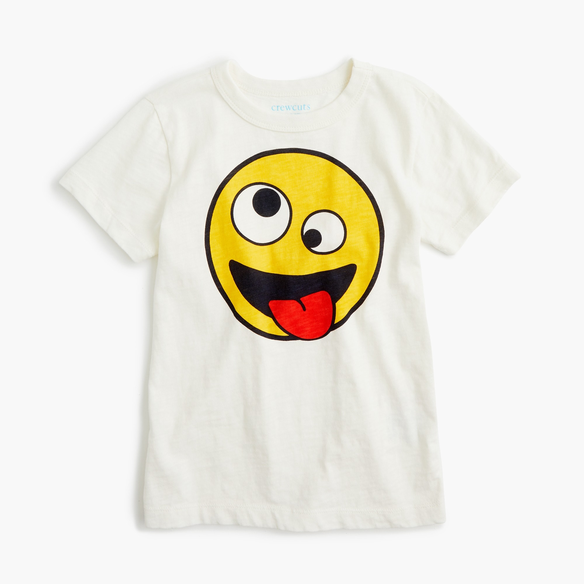 Kids' crazy-eyes emoji T-shirt