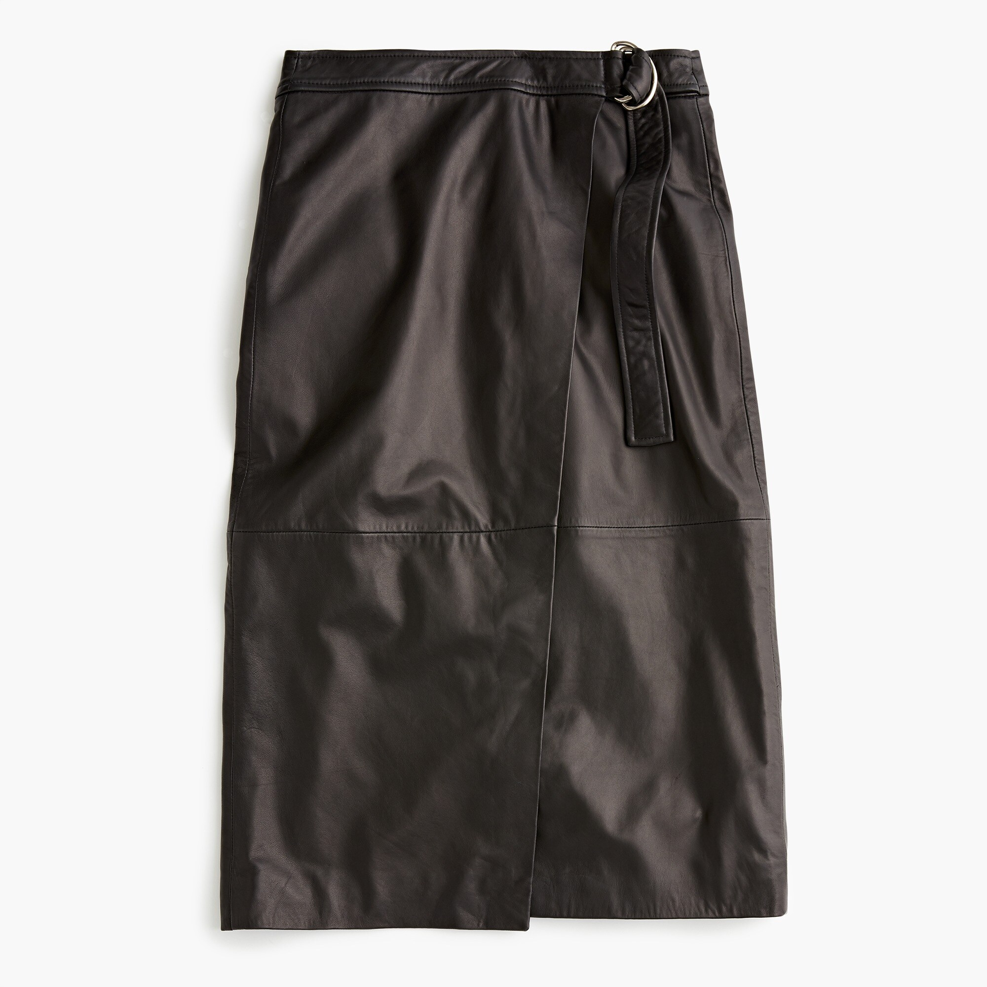 womens Collection wrap pencil skirt in leather