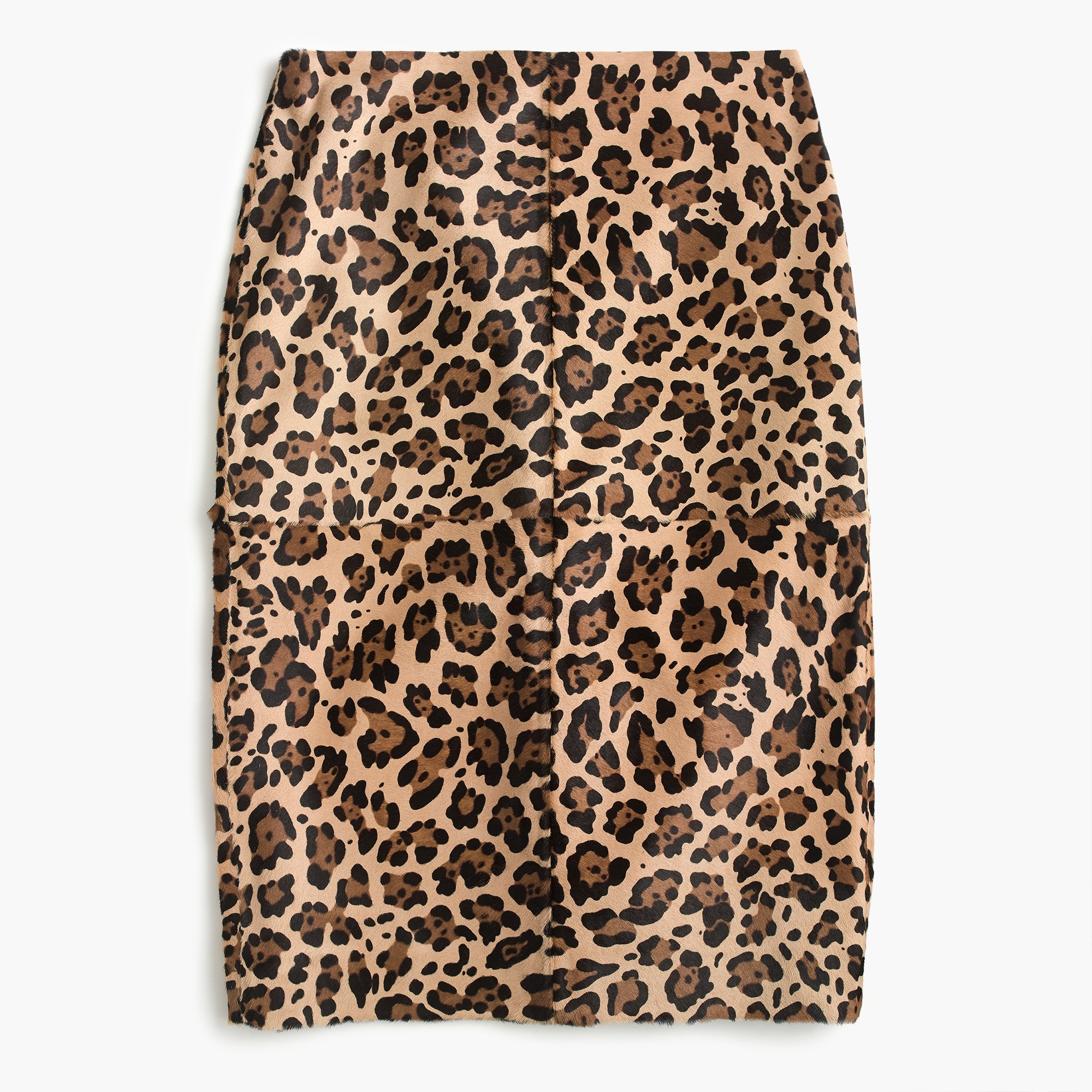 Image 1 for Collection leopard calf hair pencil skirt